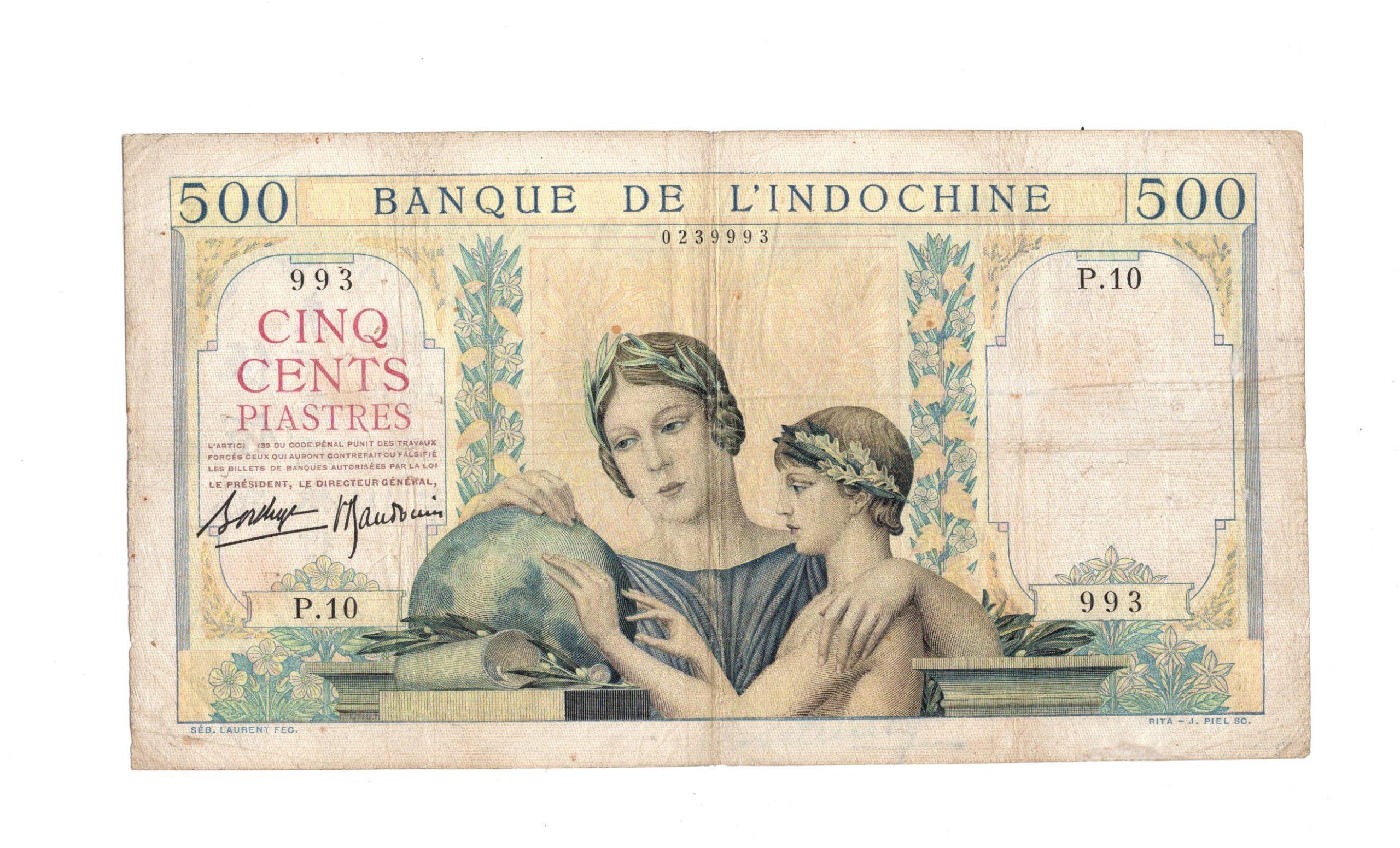 french idnochina 500 piastres