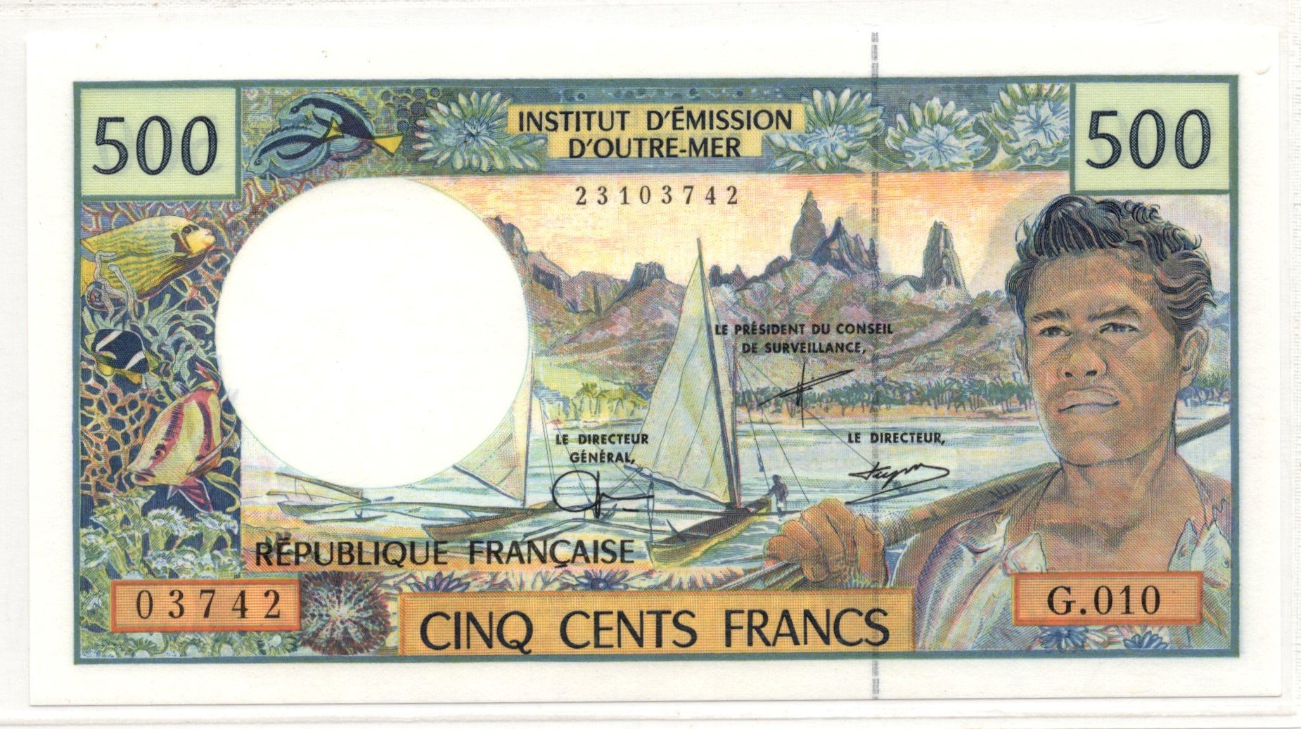 french pacific 500 francs
