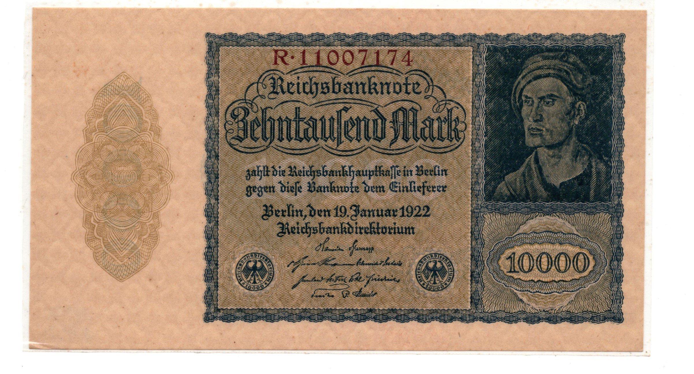 germany 10000 mark 1922
