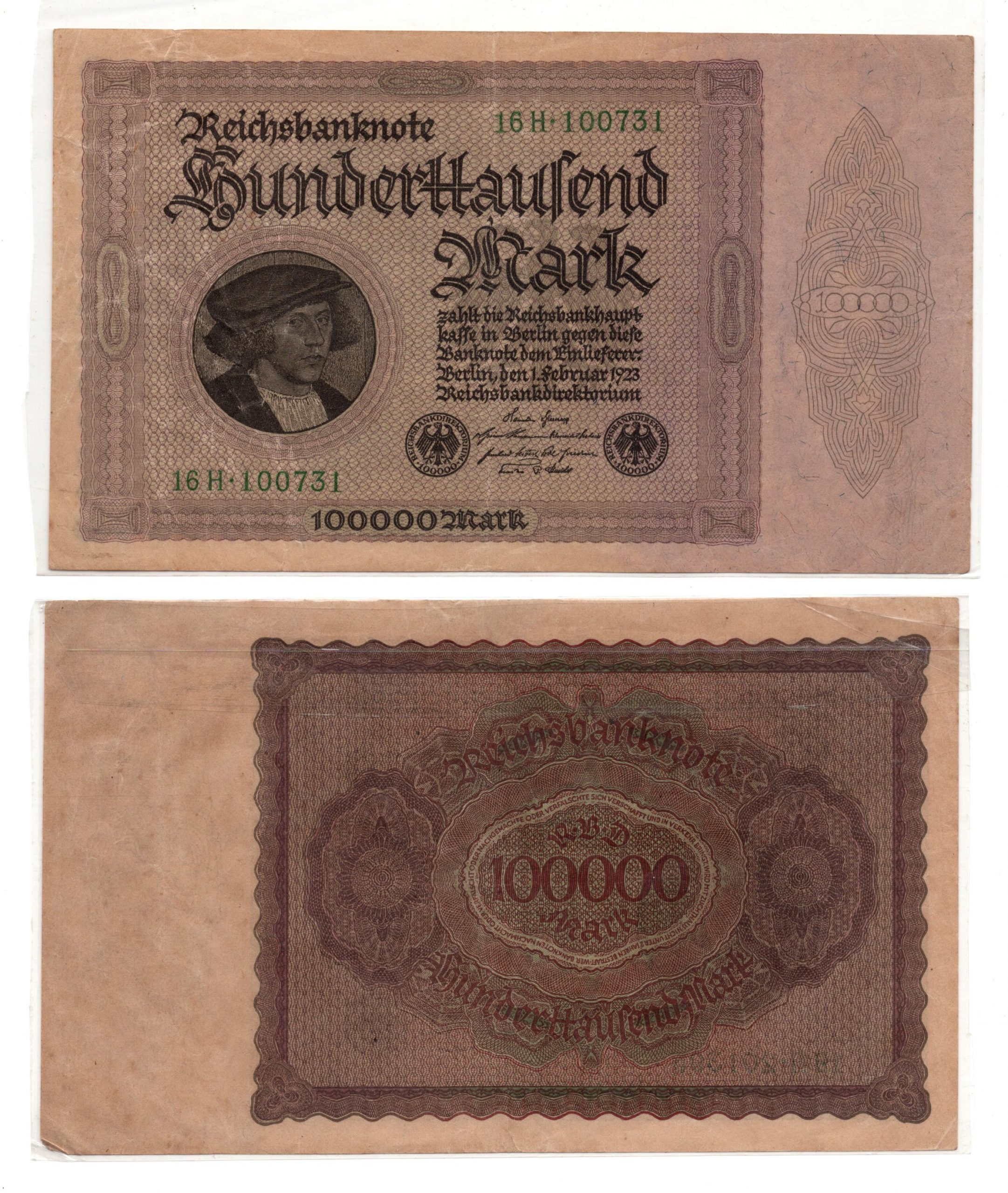 Germany 100000 mark 1923 banknote for sale