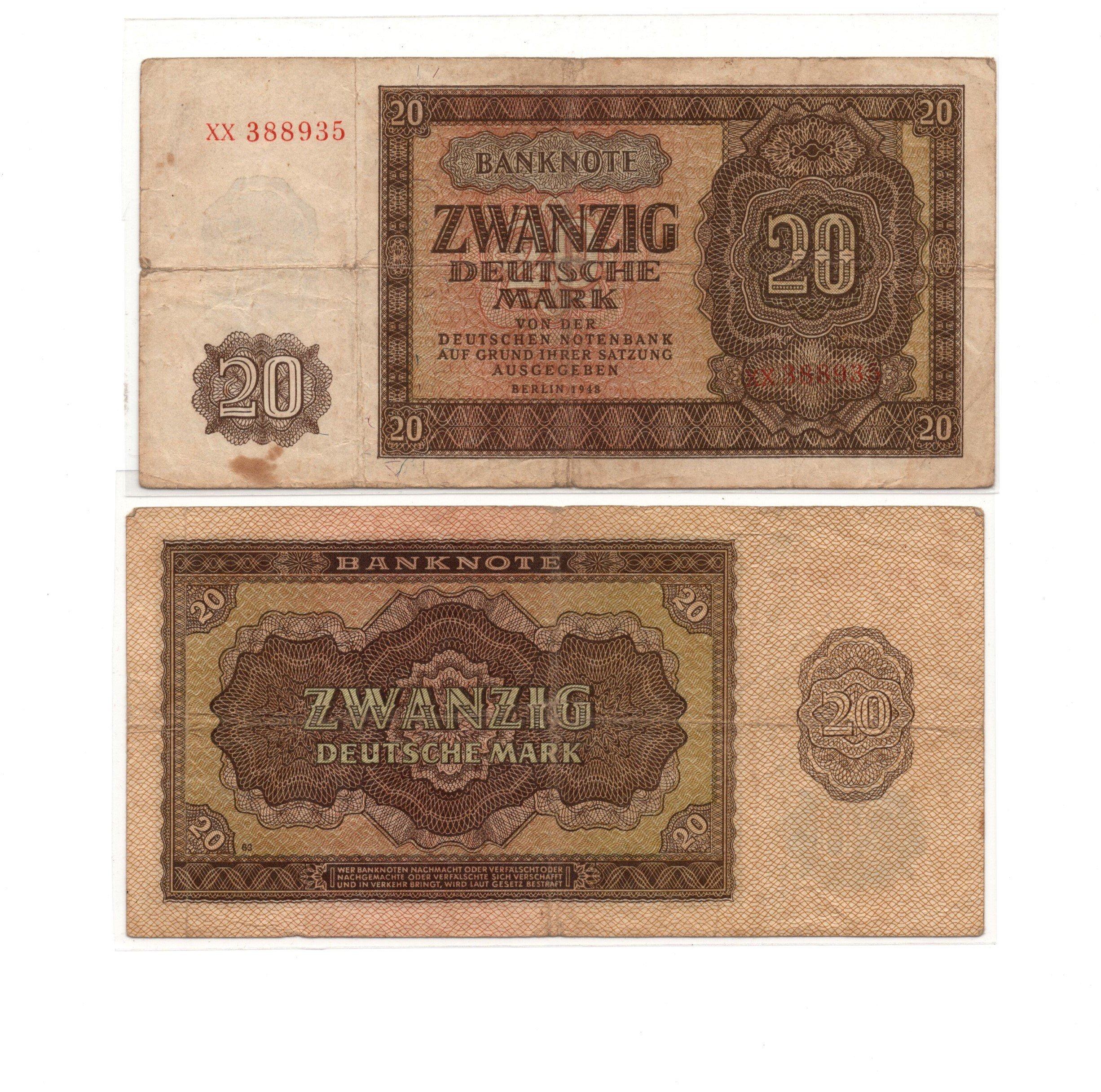 germany 20 mark 1948