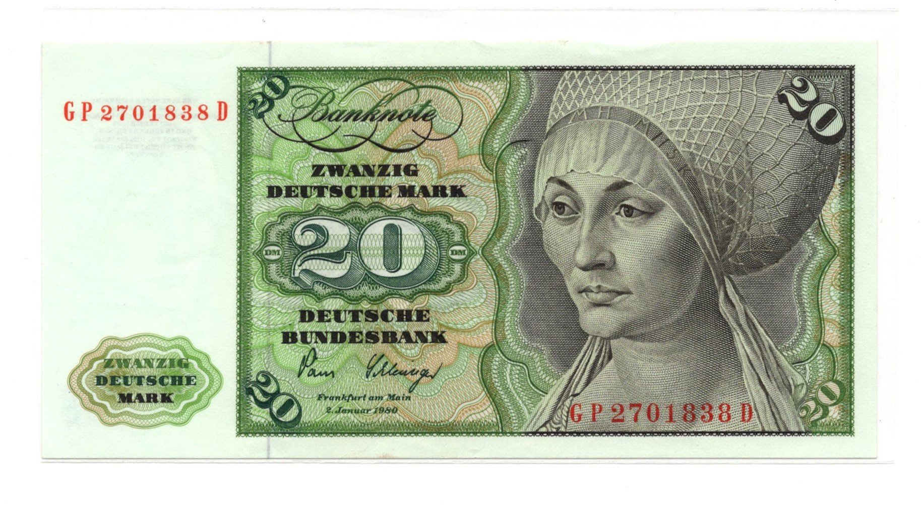 germany 20 mark 1980