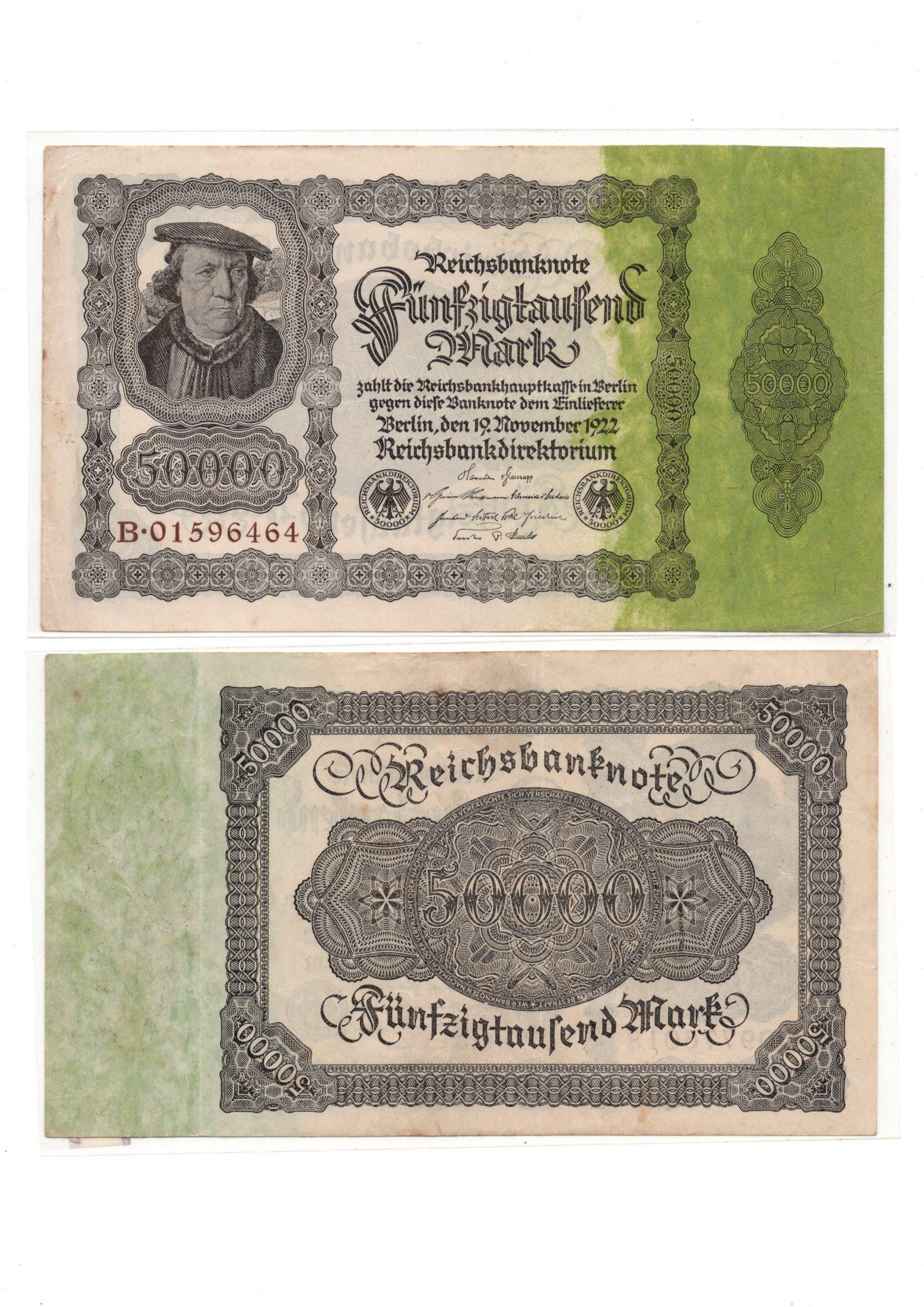 germany 50000 mark 1922