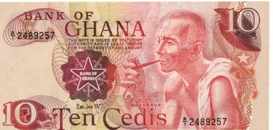 Ghana 10 cedis 1977