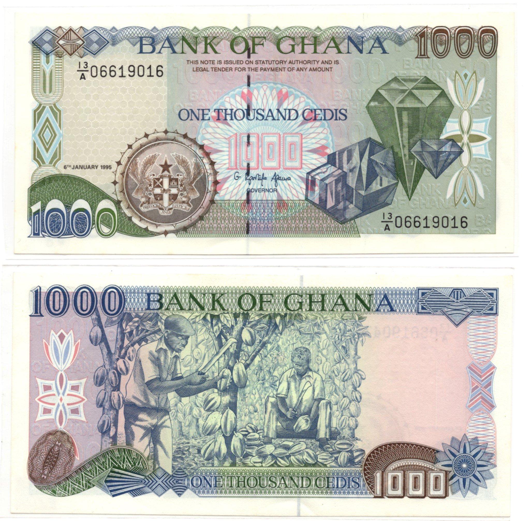 ghana 1000 cedi 1995