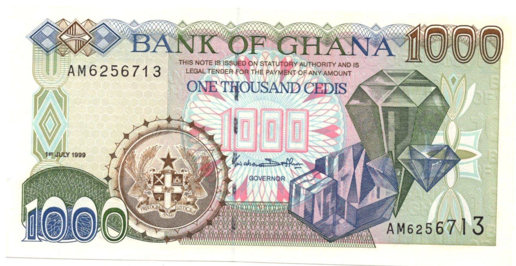 ghana 1000 cdedi 1999