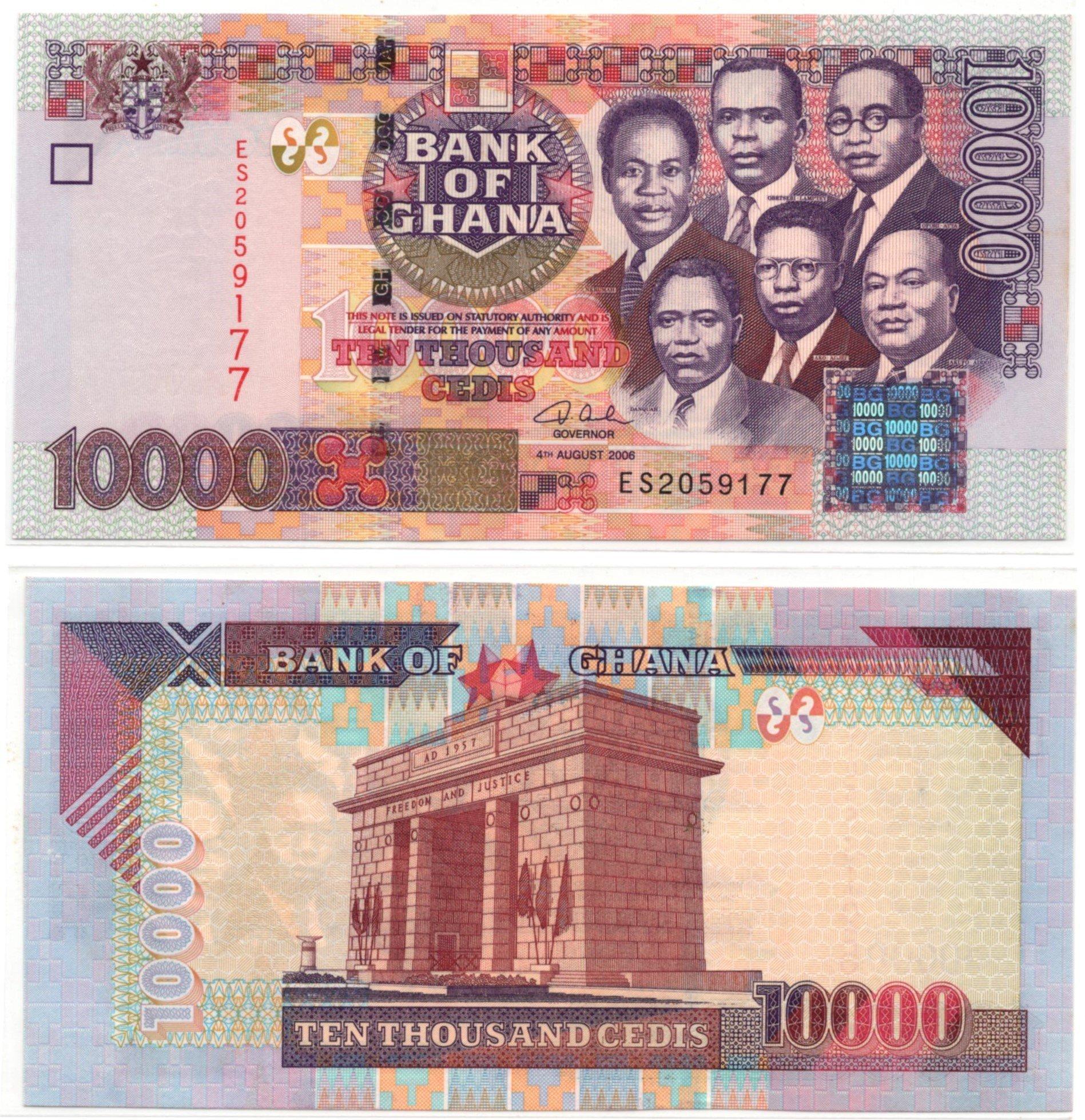 ghana 10000 cedi 2006