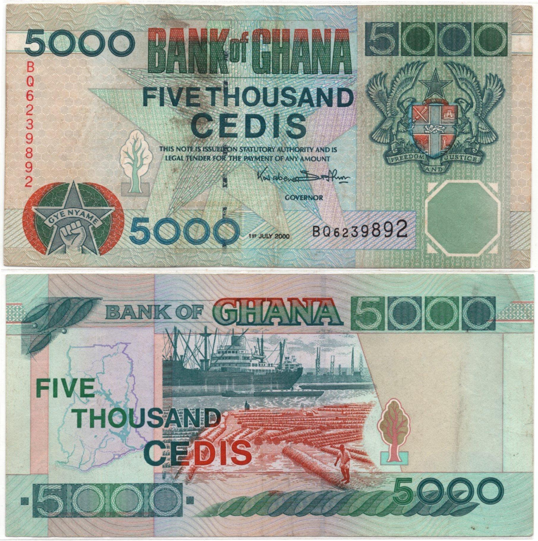 ghana 5000 cedi 2000