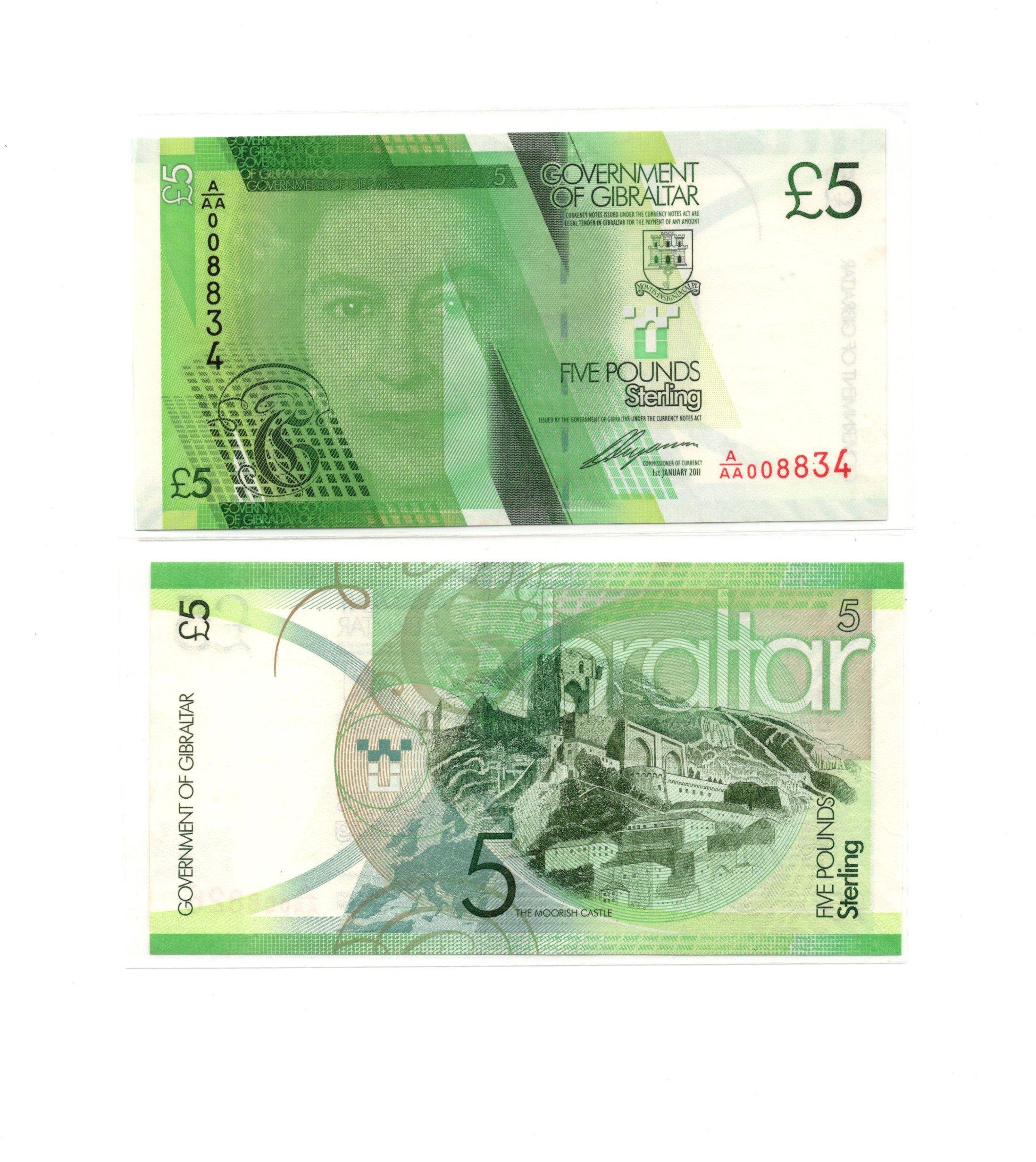 Gibraltar 5 pounds 2011