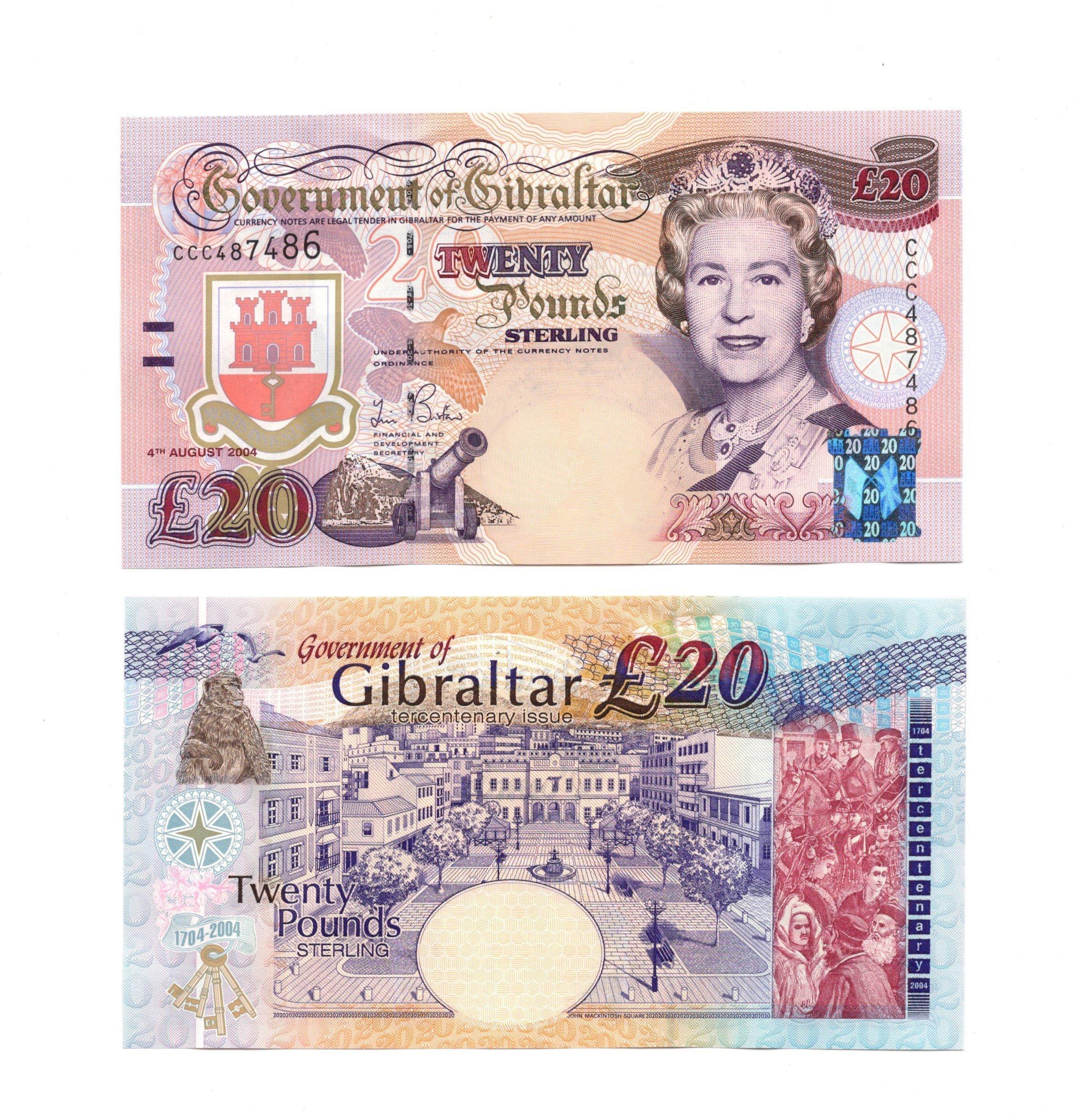 Gibraltar 20 pounds 2004