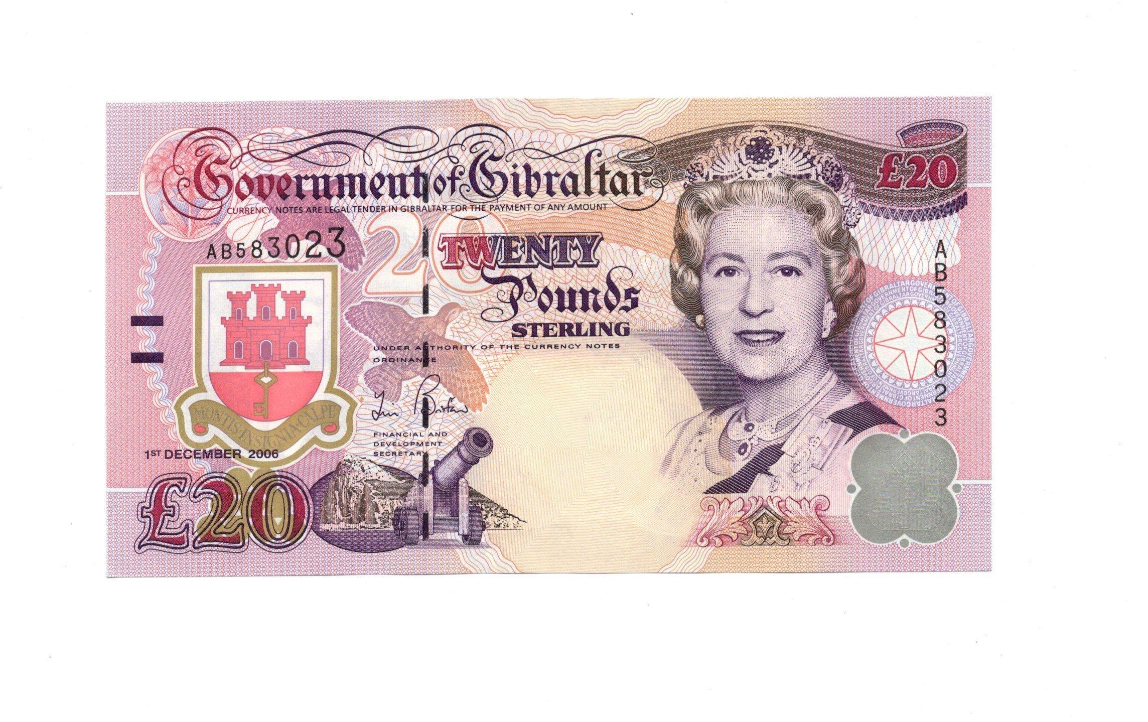 Gibraltar 20 pounds 2006