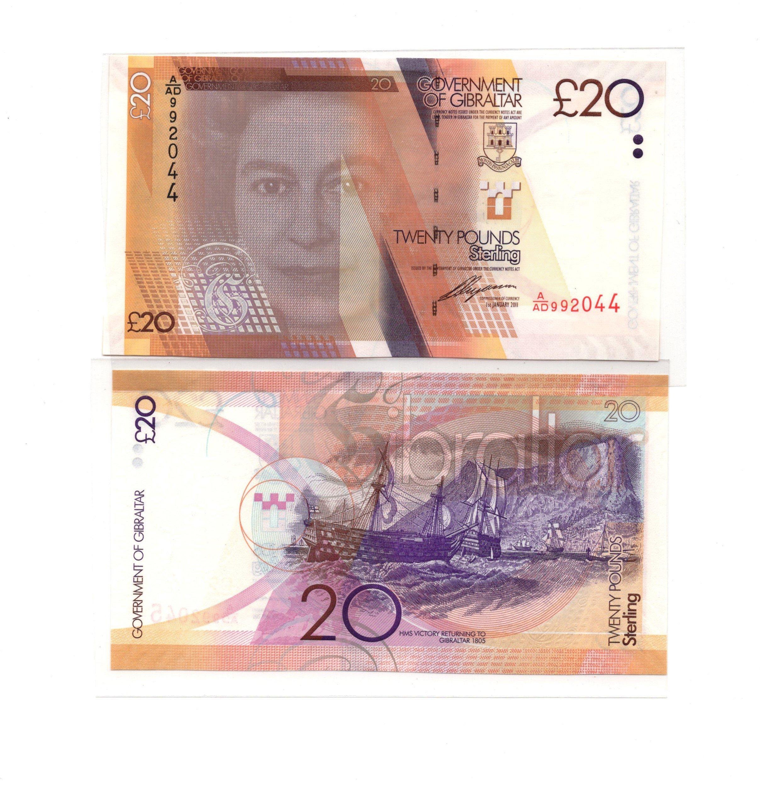 Gibraltar 20 pounds 2011