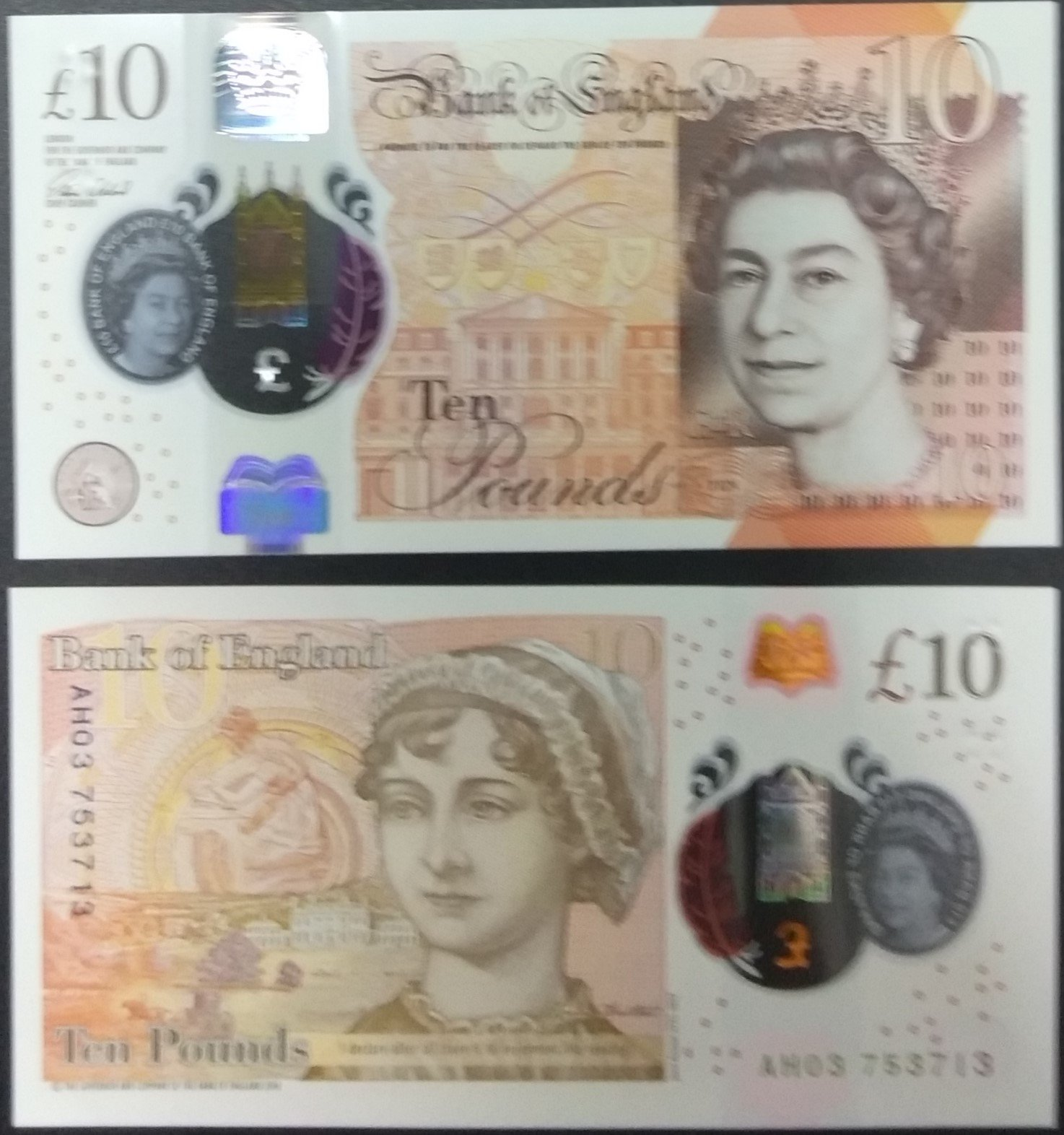 Great britain 10 pounds banknote for sale