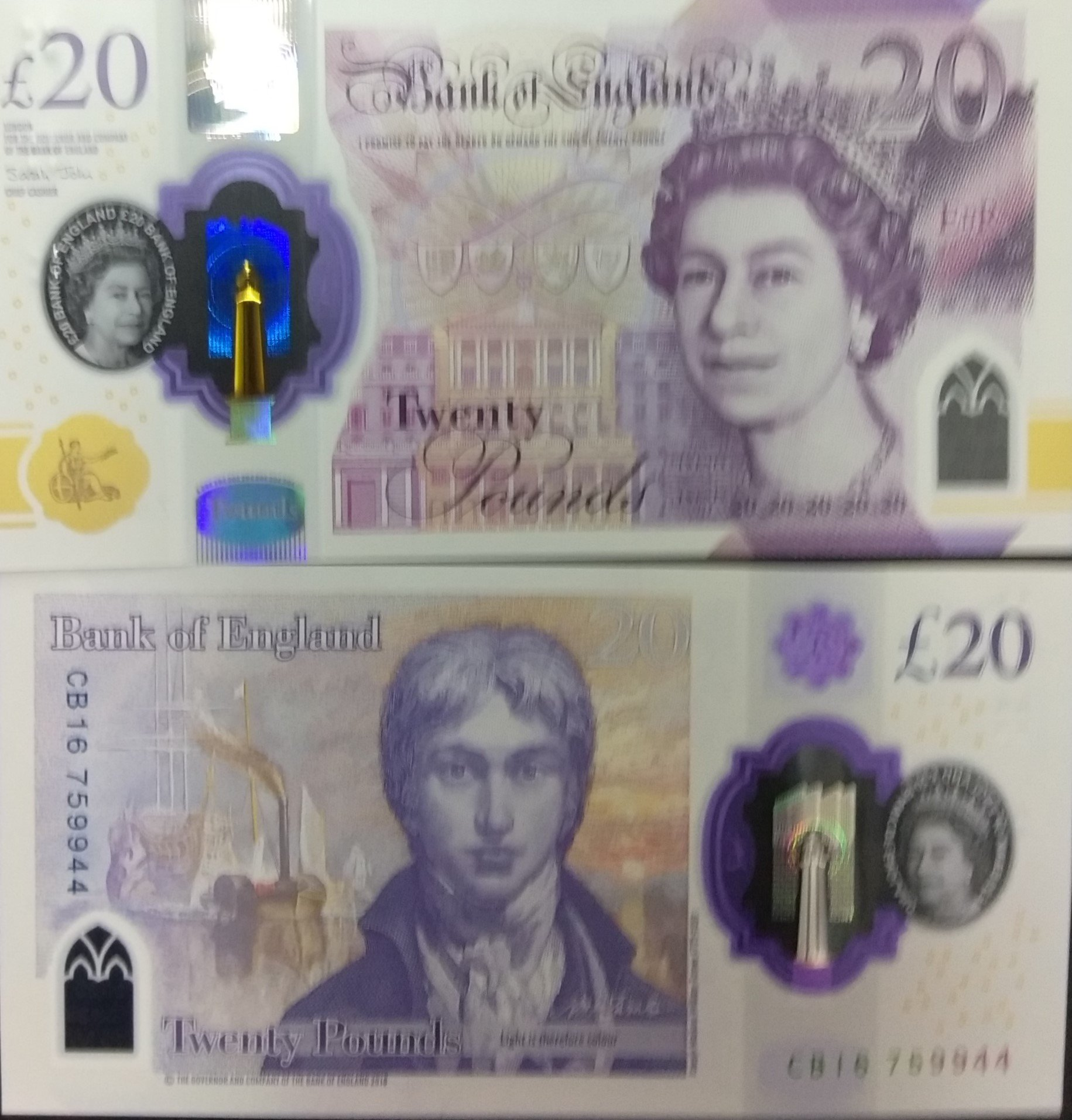 great britain 20 pounds banknote for sale