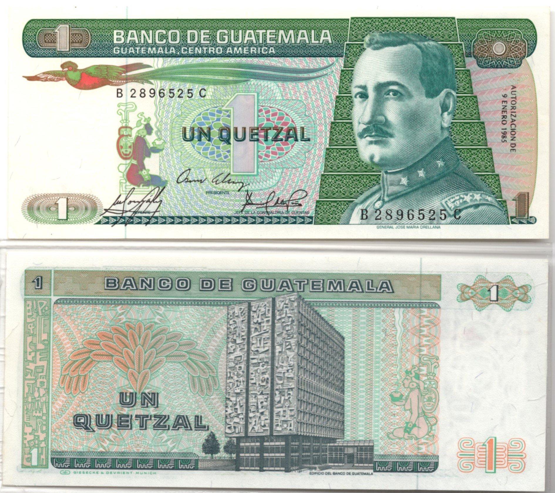 quatemala 1 quetzal 1985