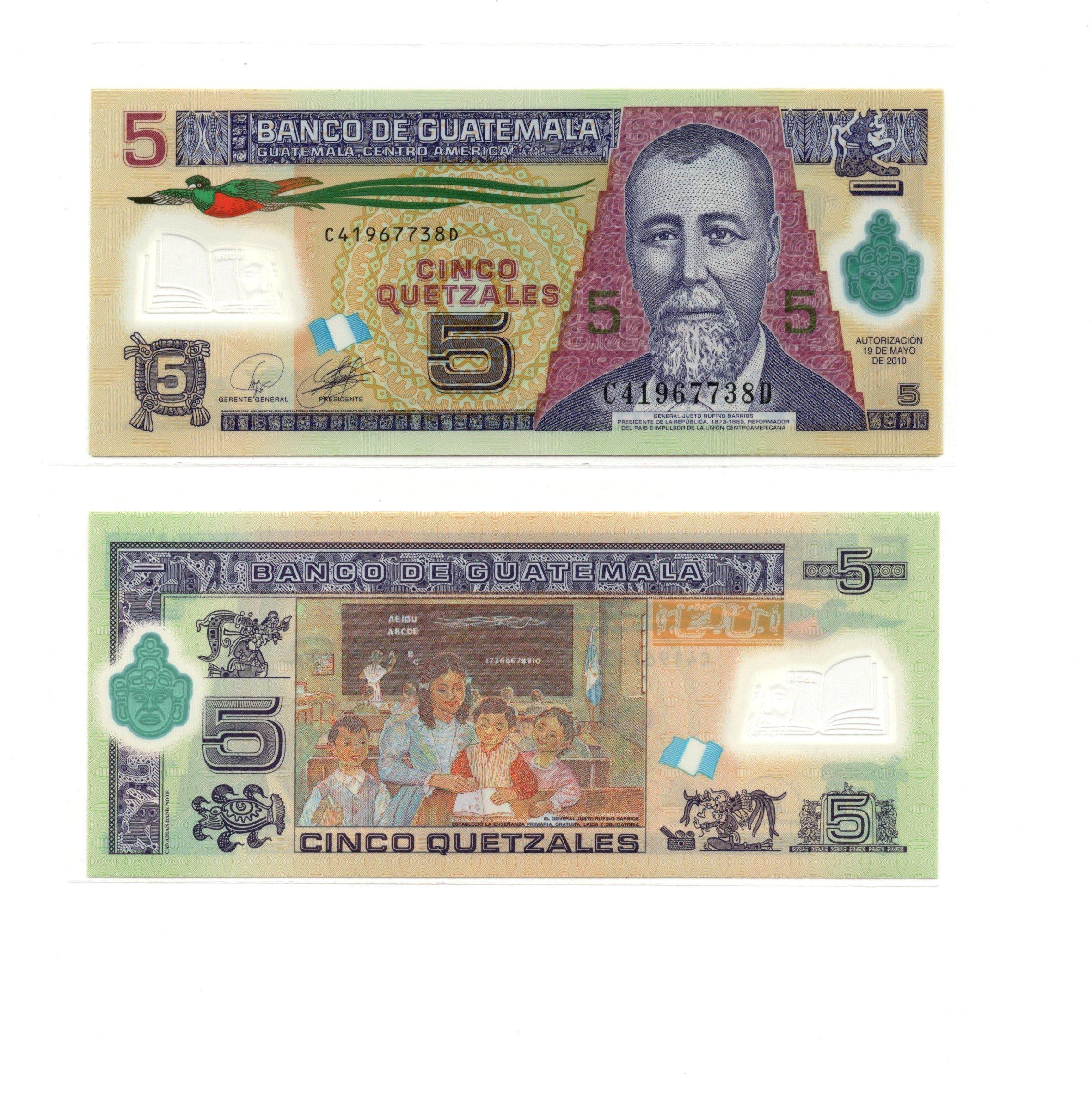 guatemala 5 quetzal