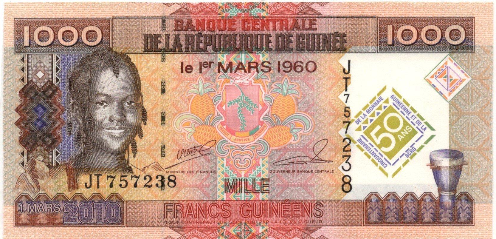 guinea 1000 guineens 1985