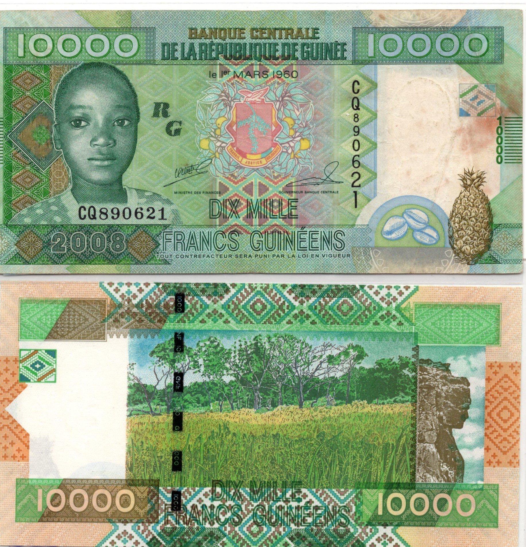 guinea 10000 guineens 2007