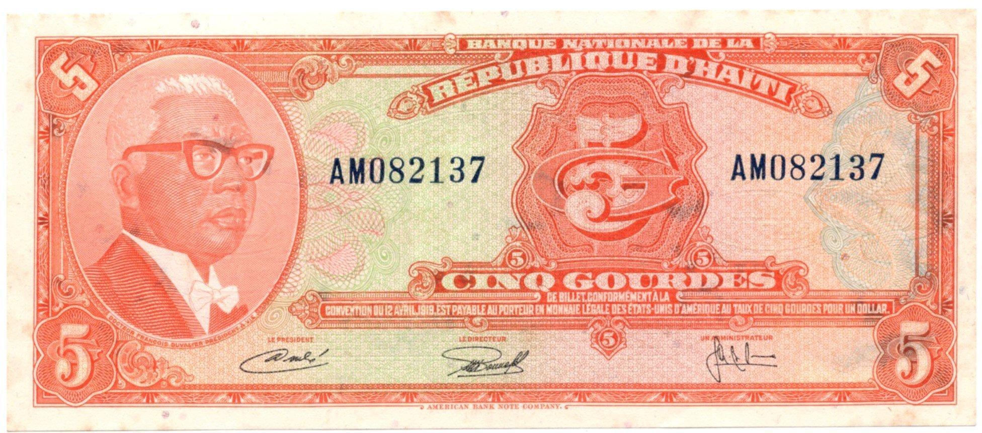 haiti 6 gourdes 1919