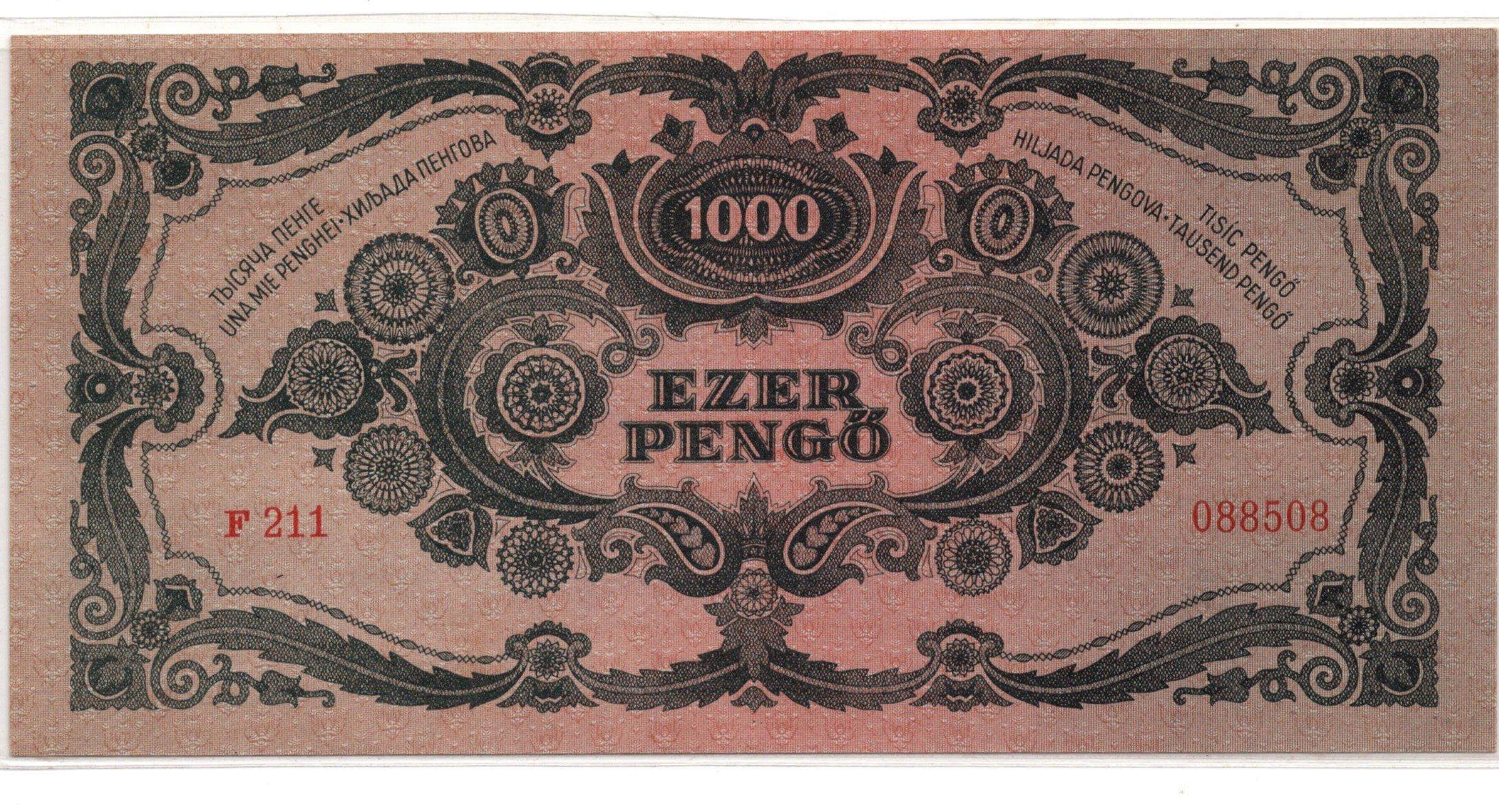 Hungary 1000 pengo 1945