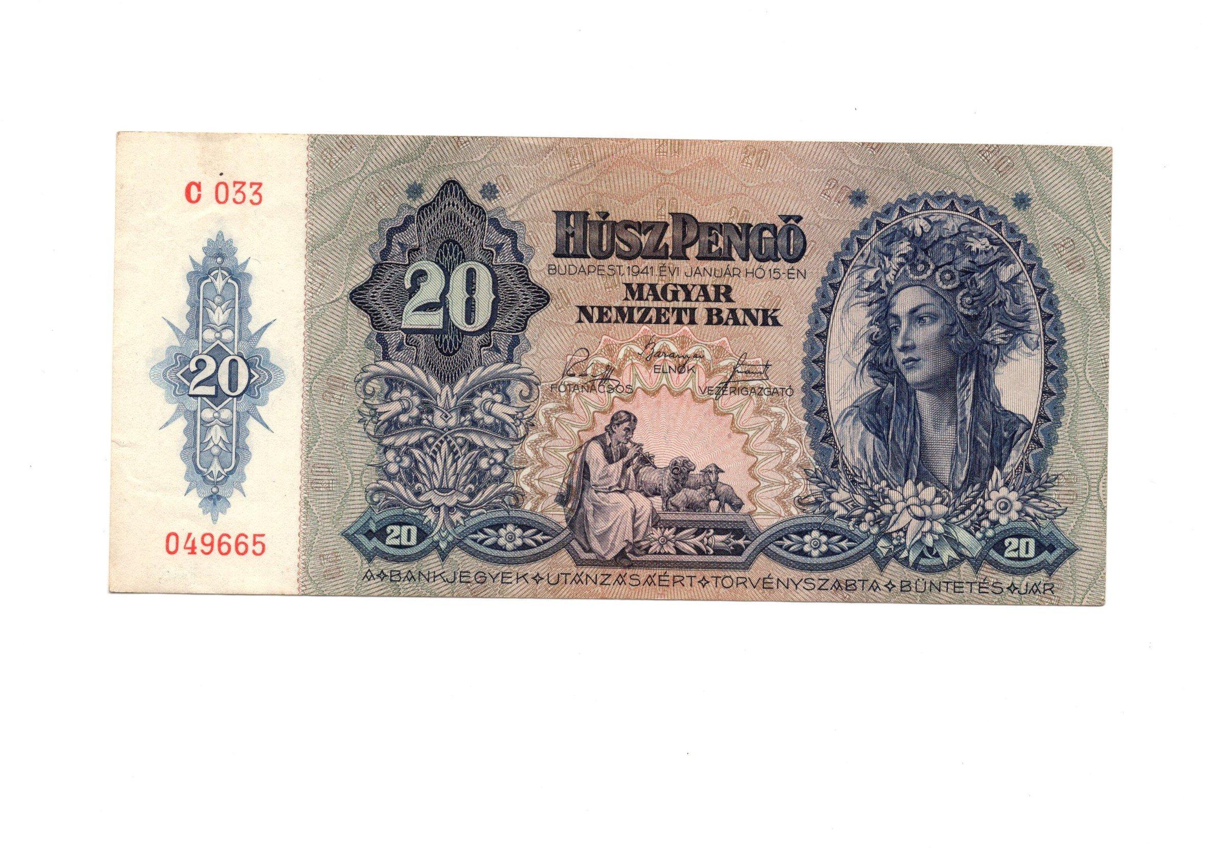 hungary 20 forint 1941