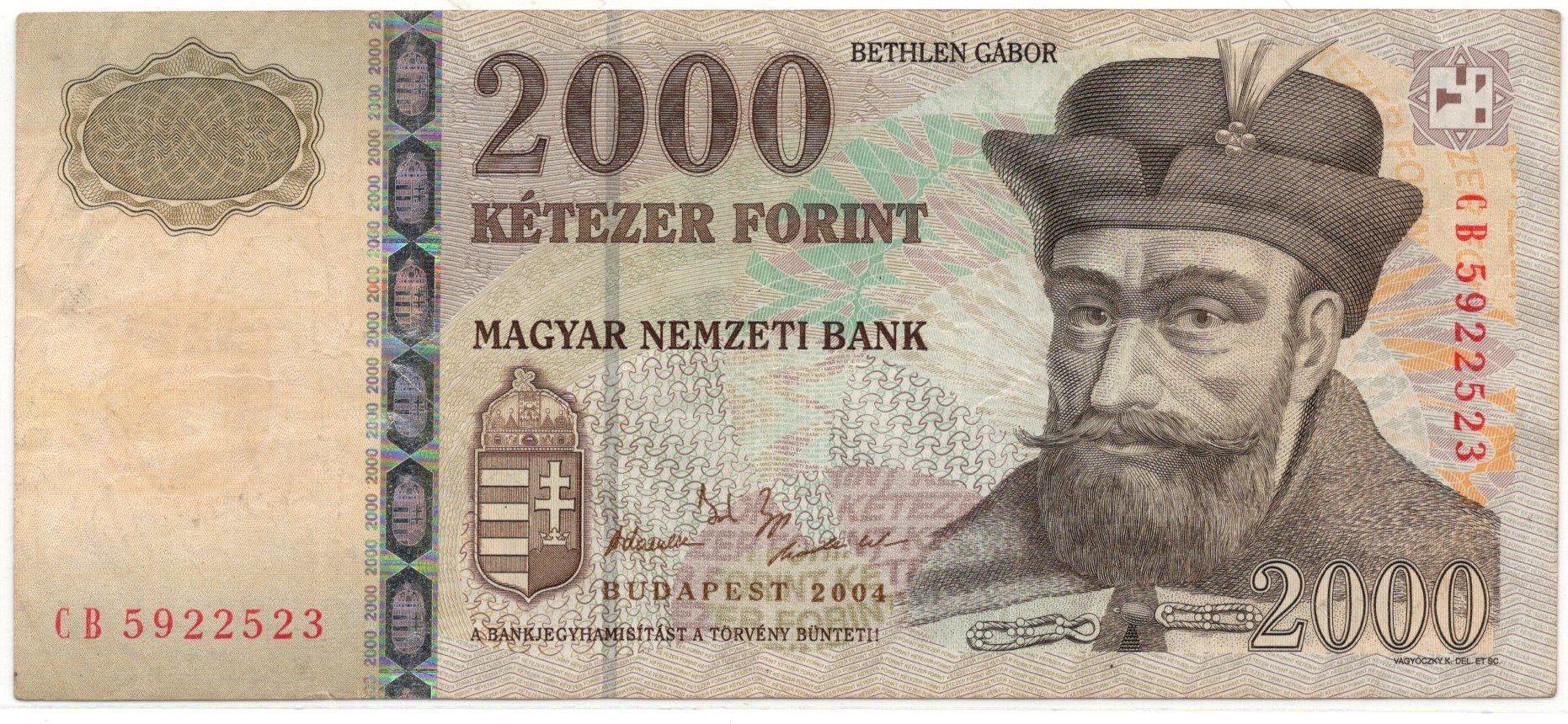 hungary 2000 forint 2004