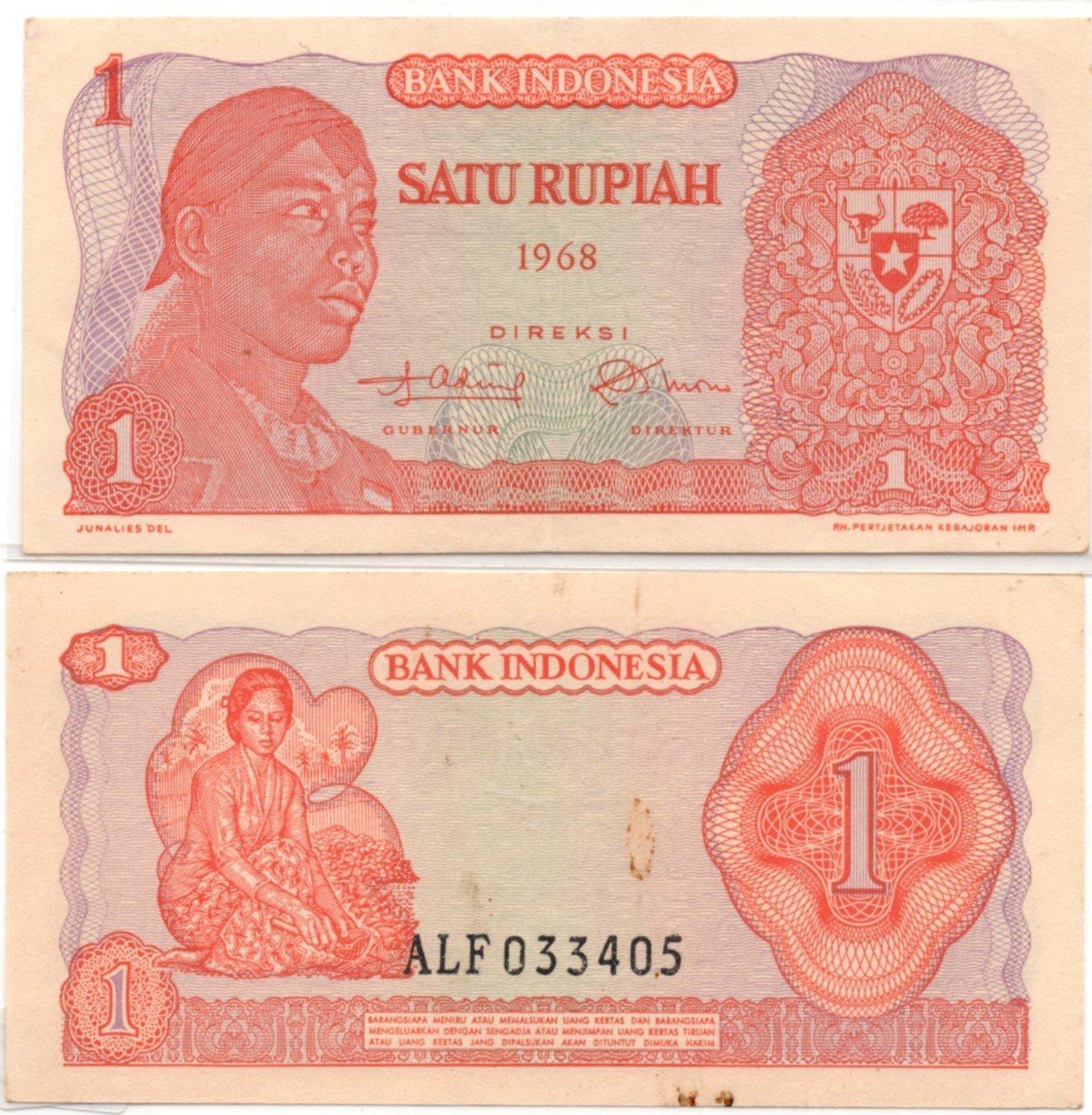 indonesia 1 rupiah  1968