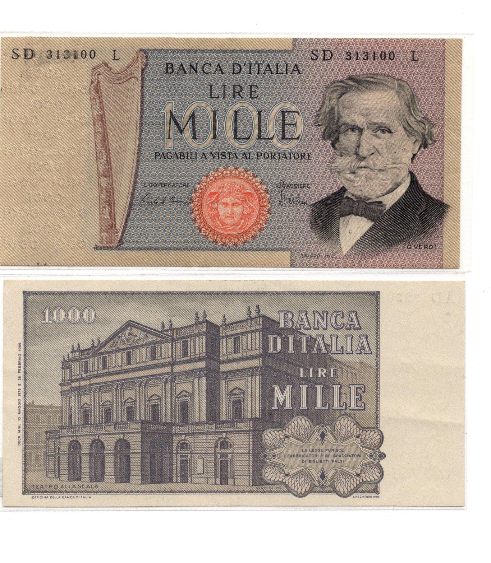 Italy 1000 lire 1969