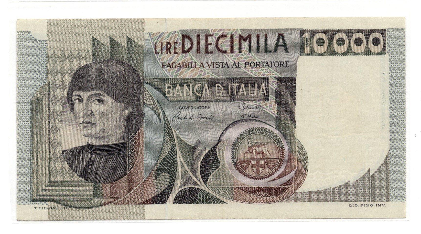 Italy 10000 lire 1975