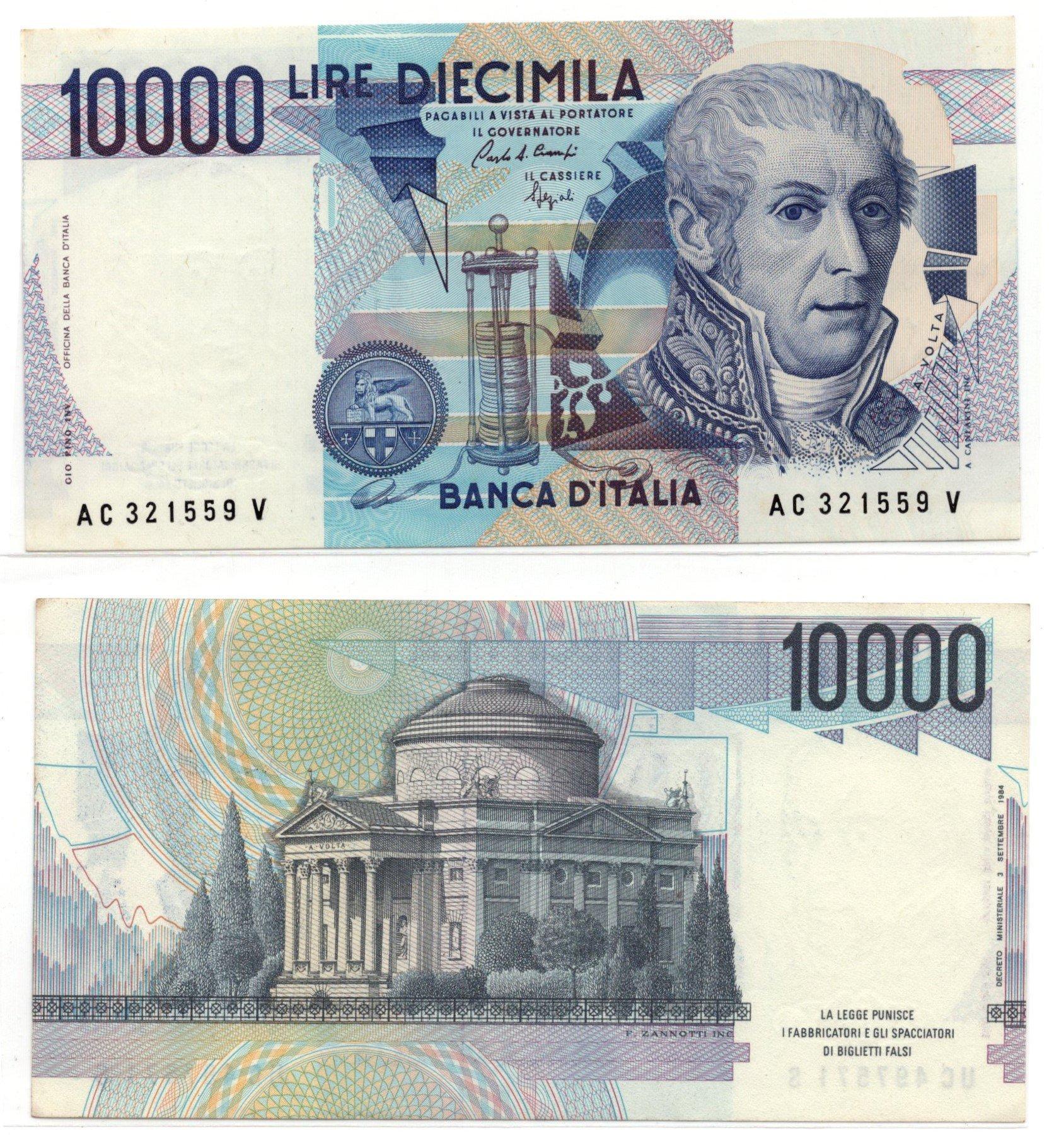Italy 10000 lire 1984