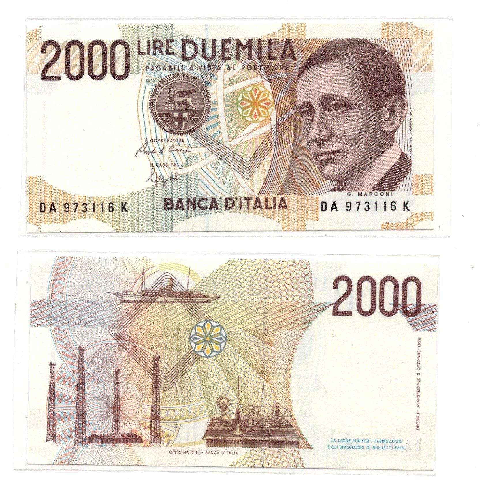 italy 2000 lire