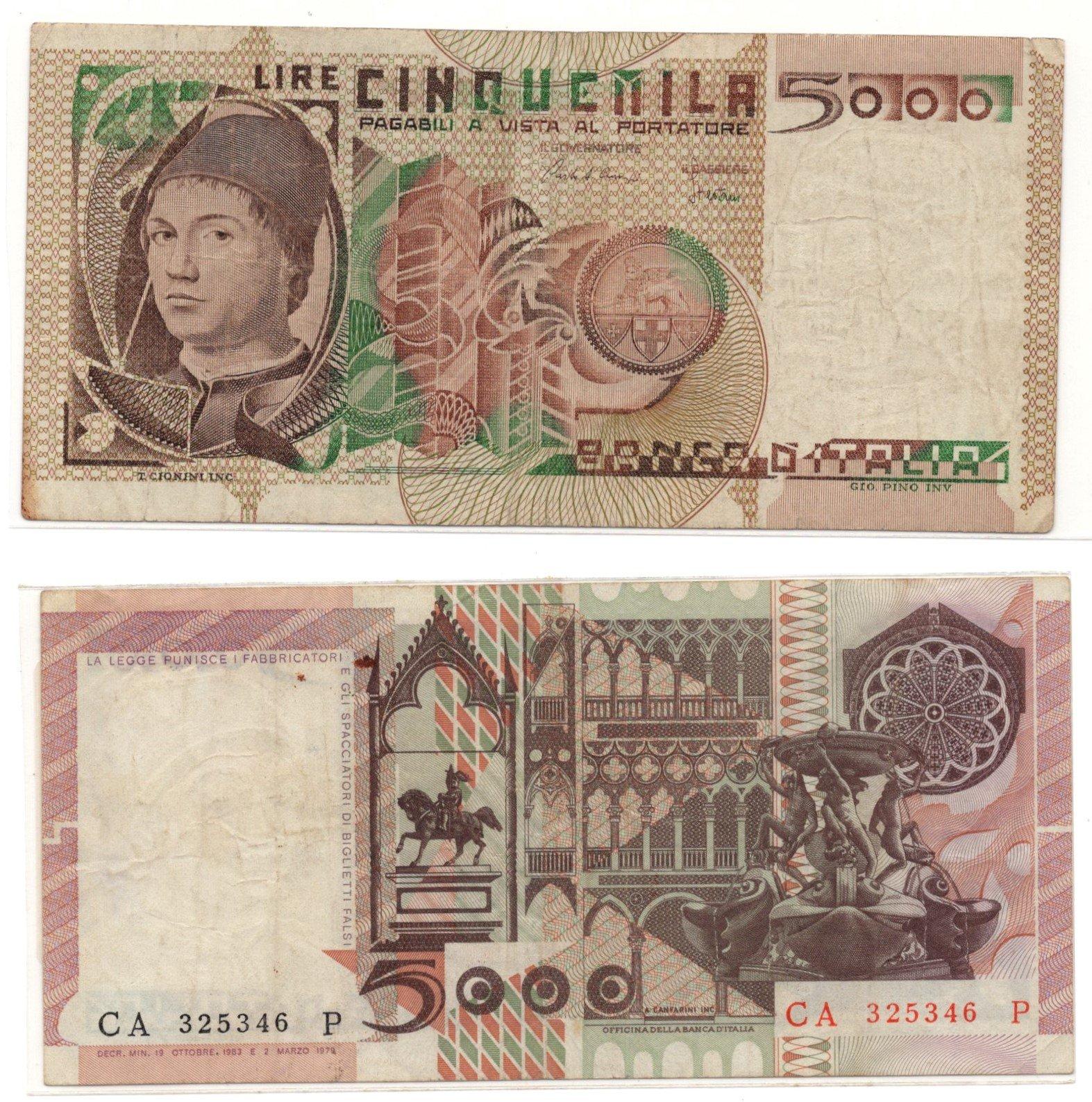 Italy 5000 lire 1979