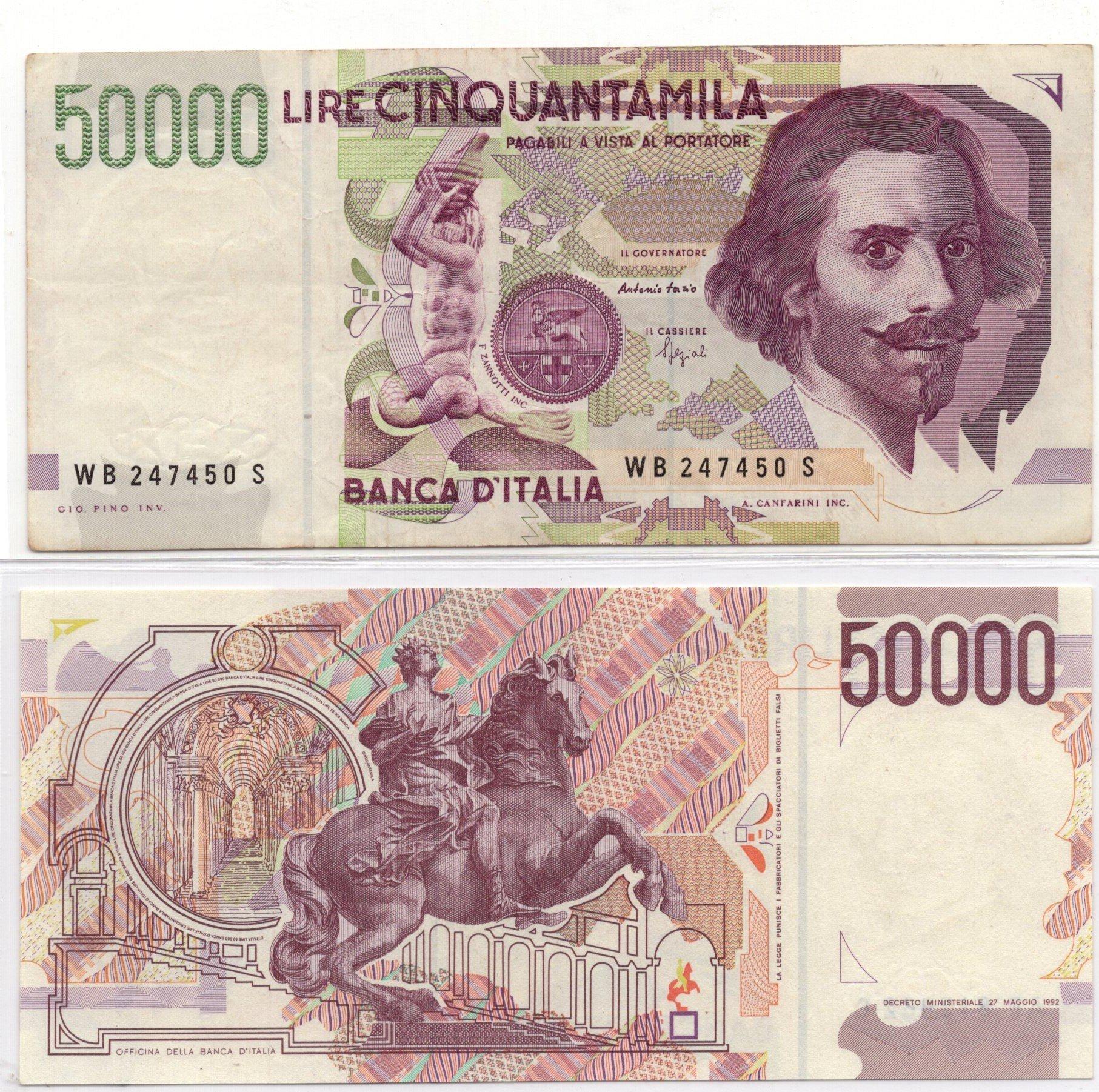 Italy 50000 lire 1992