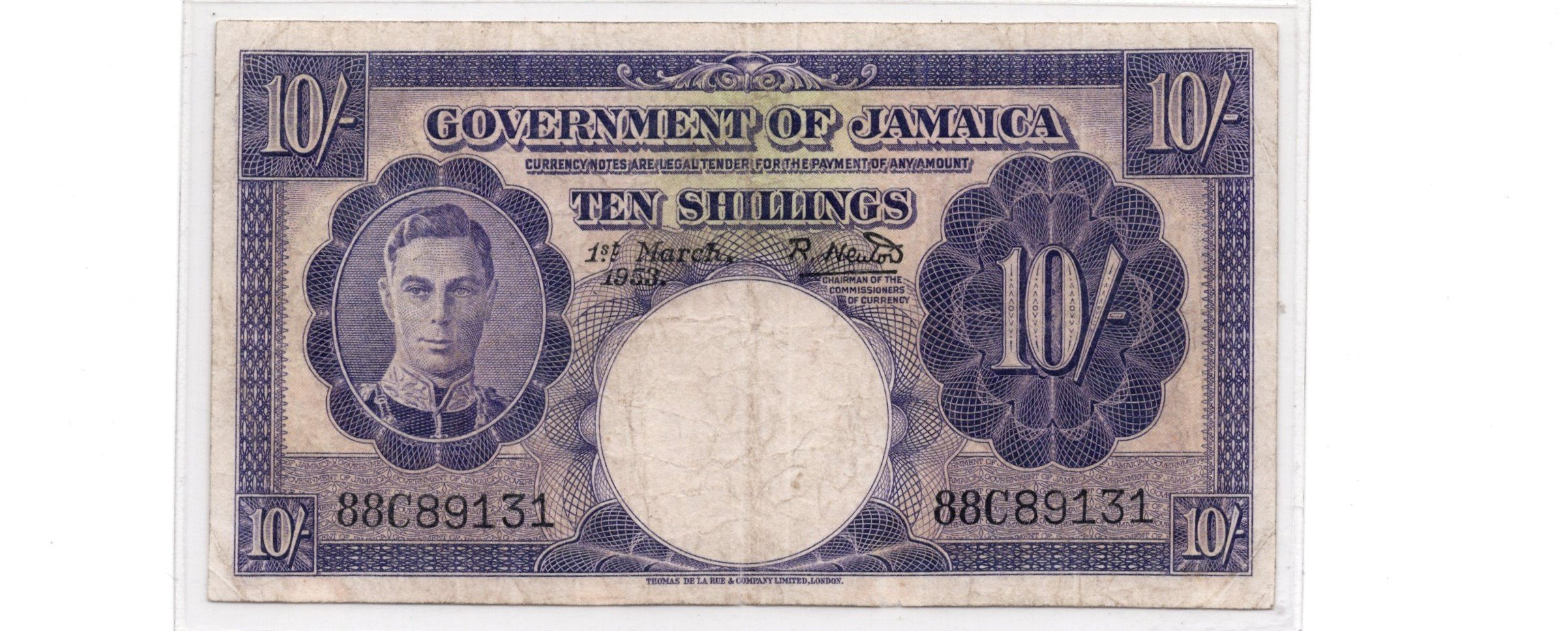 jamaica 10 shillings