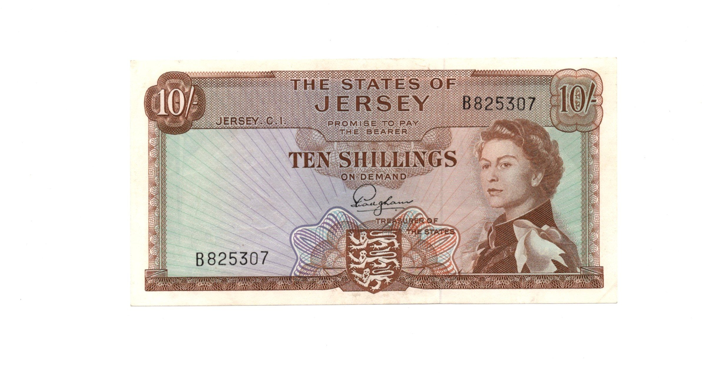 jersey 10 shillings 1963