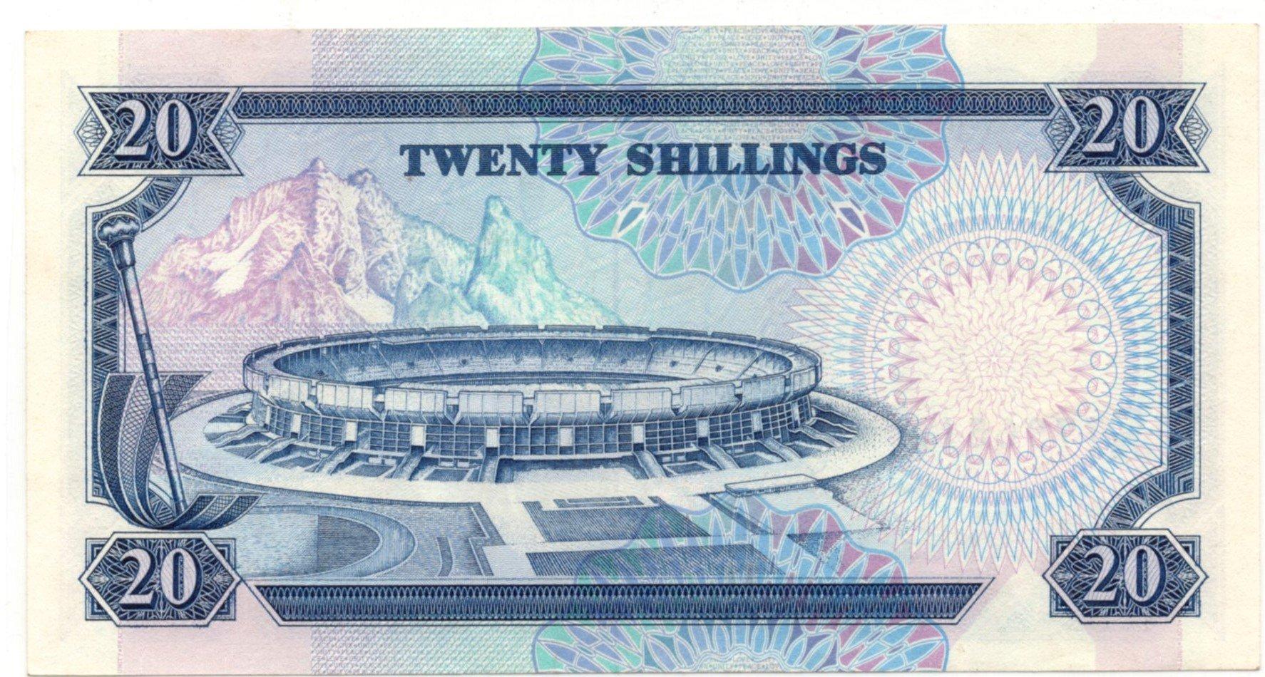 kenya 20 shillings back