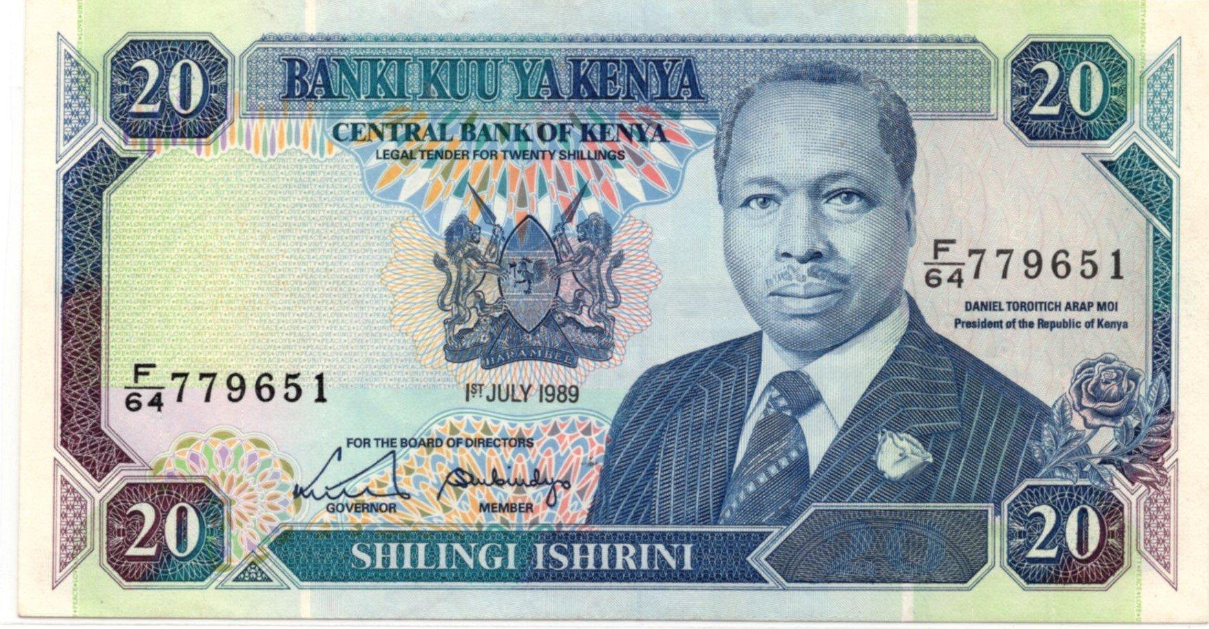 Kenya 20 shillings