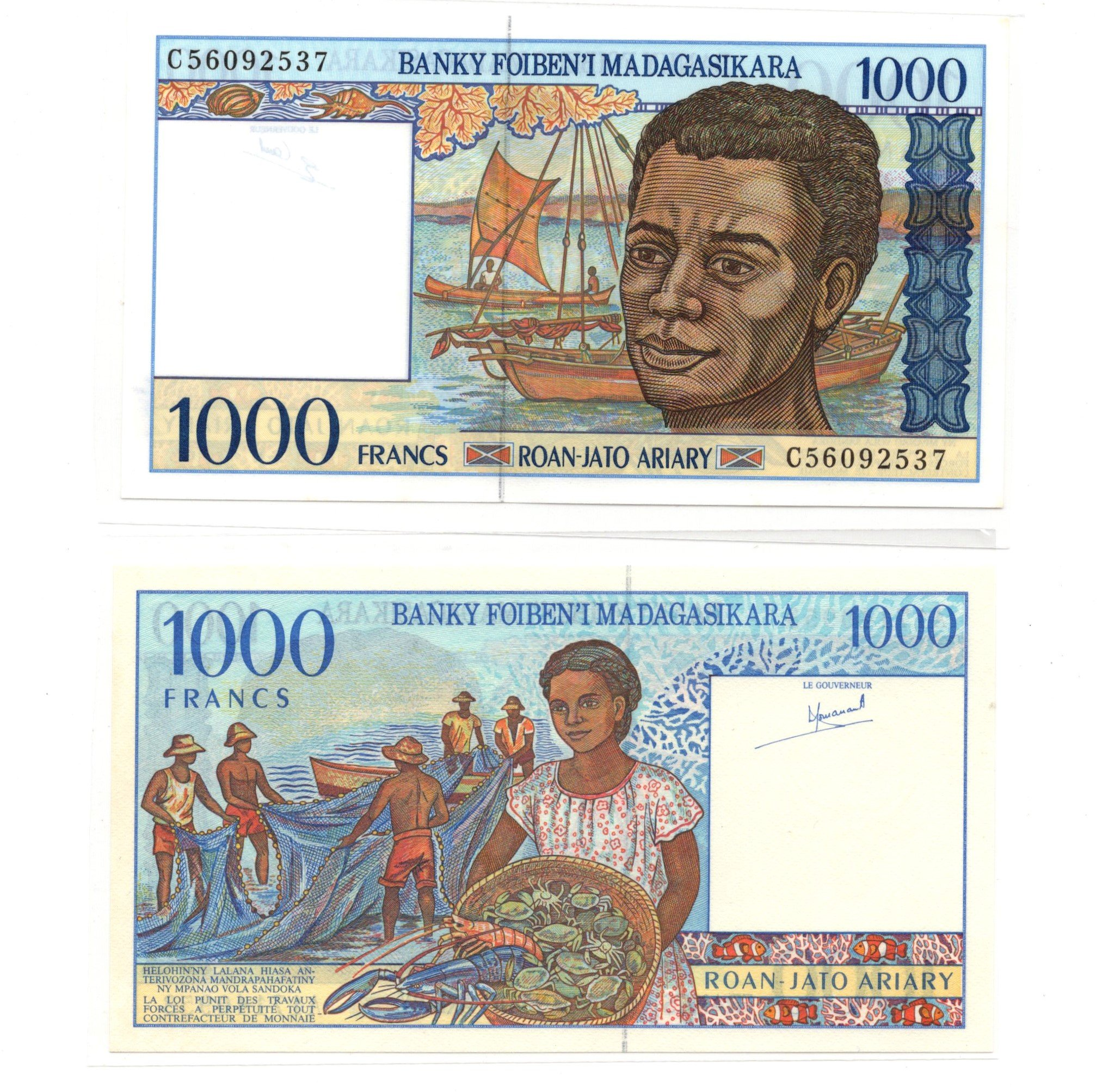 madagascar 1000 francs