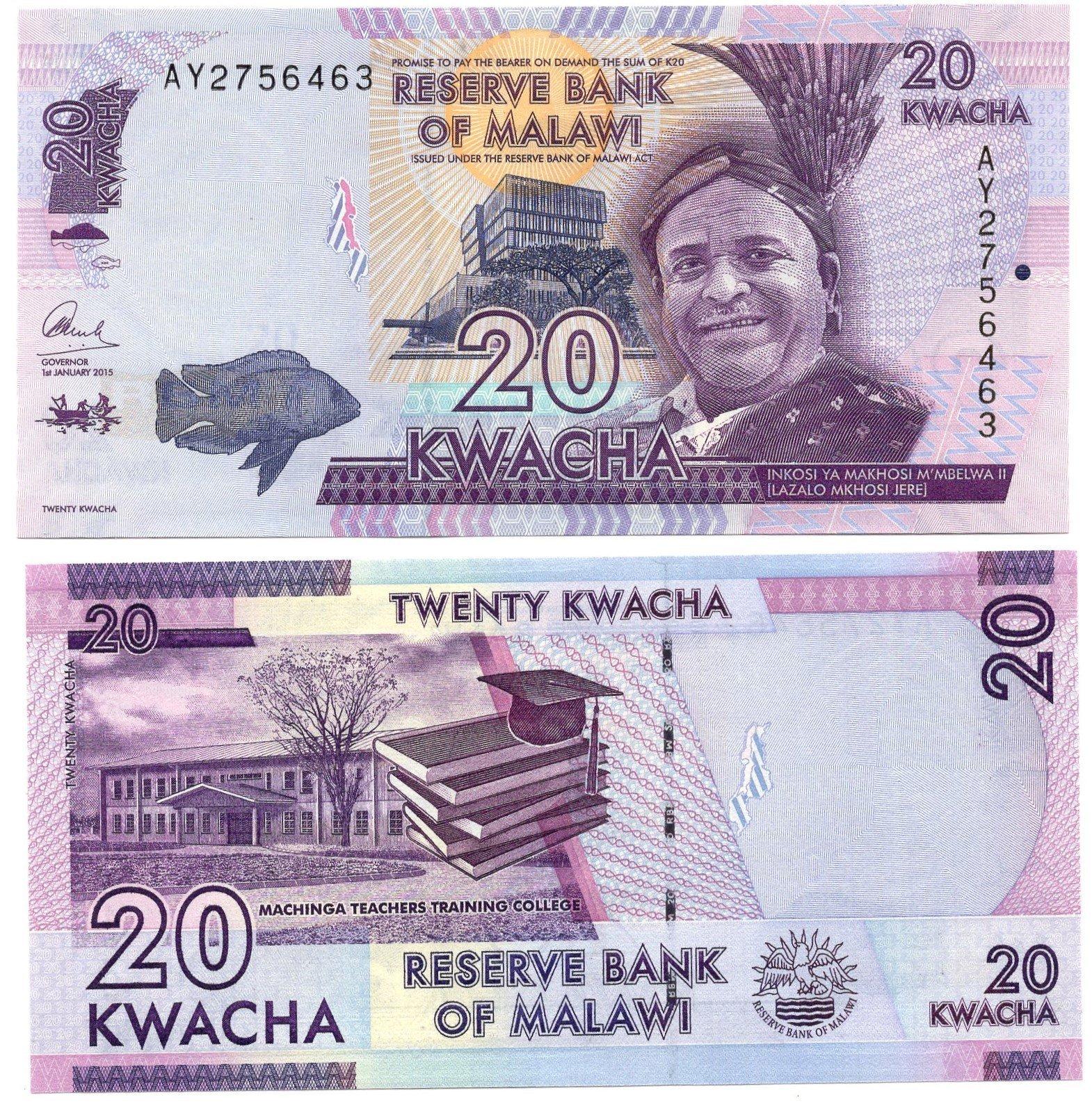 Malawi 20 kwacha 2015