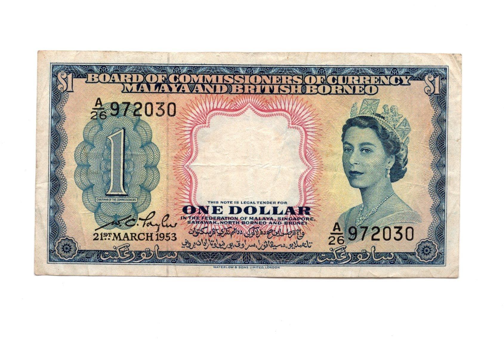 Malaya 1dollar 1953