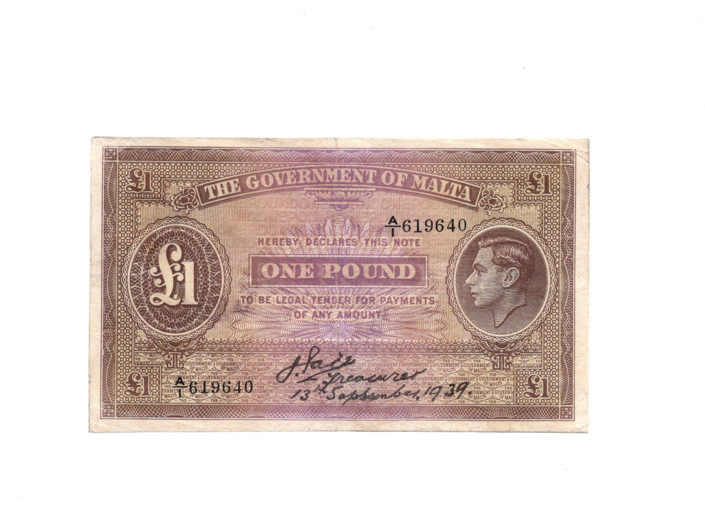 Malta 1 pound 1939
