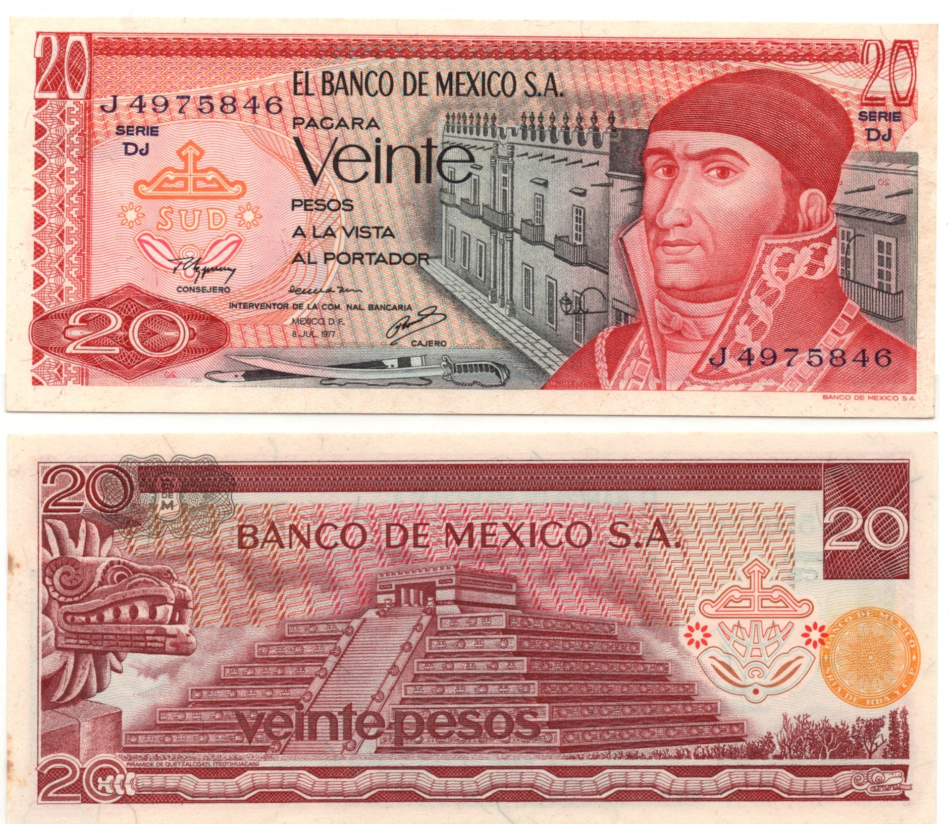 mexico 20 pesos