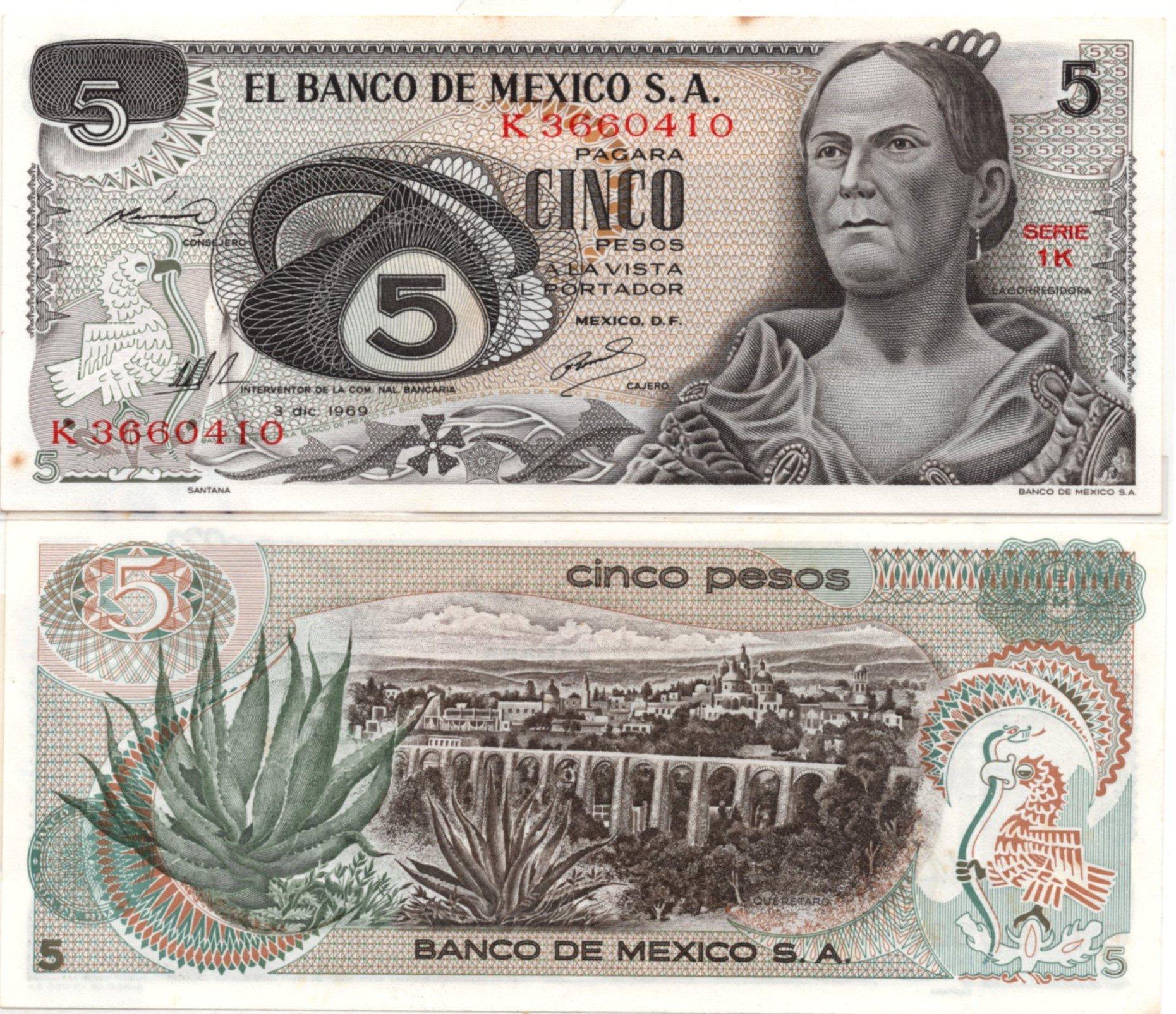 Mexico 5 pesos P62