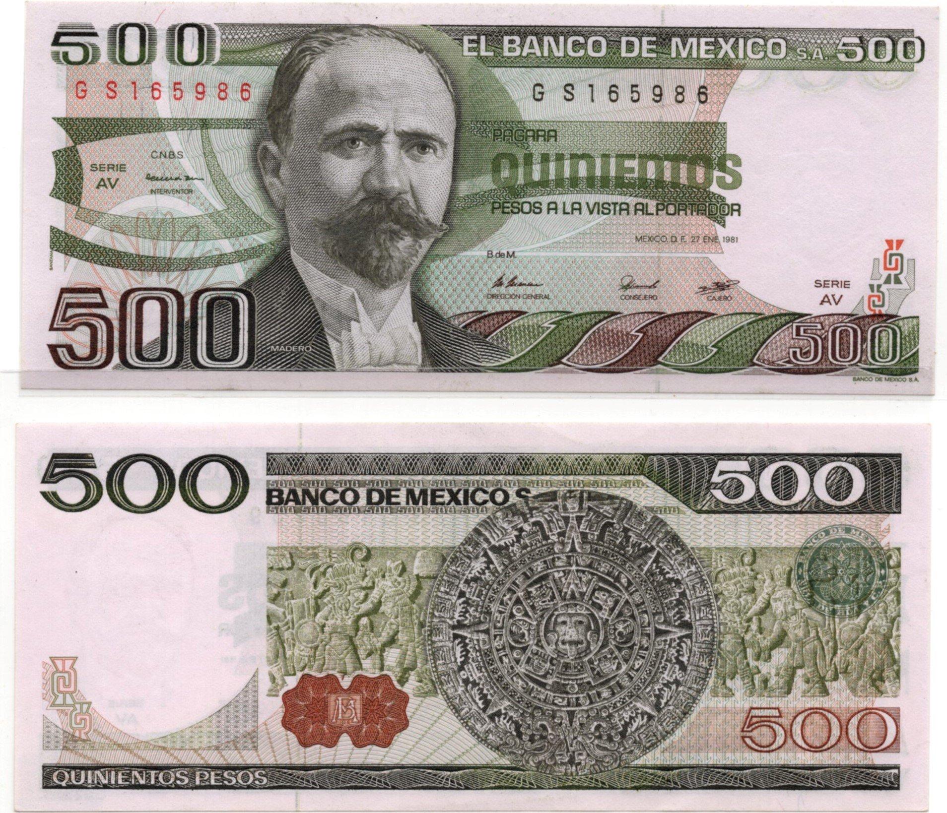 mexico 500 pesos