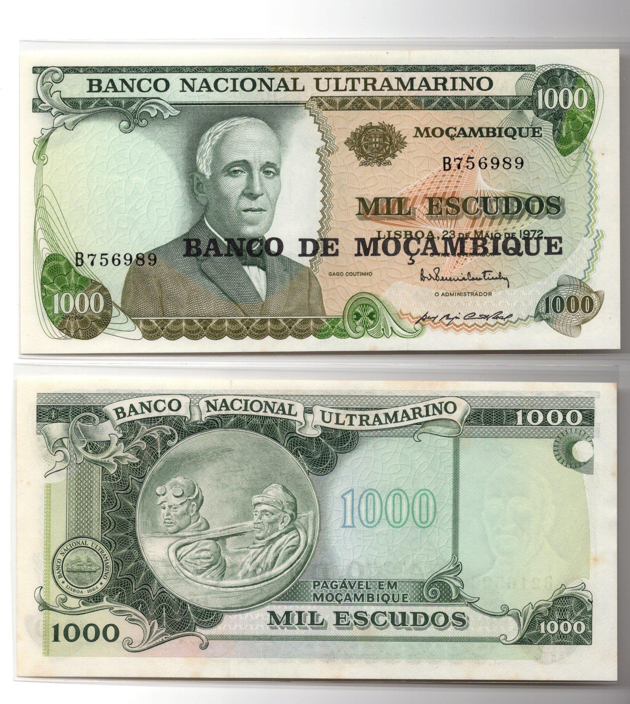 mozambique set banknote