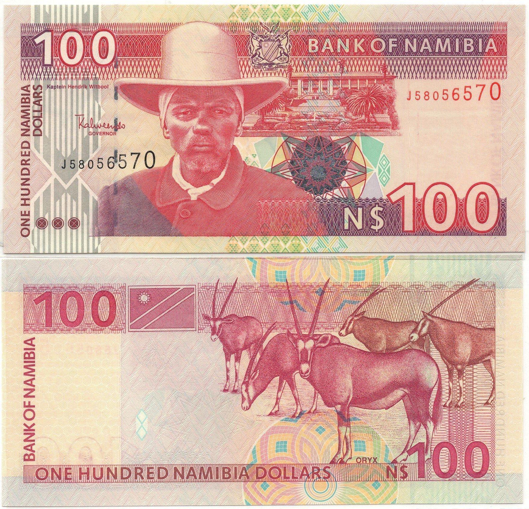 Namibia 100 dollars banknote
