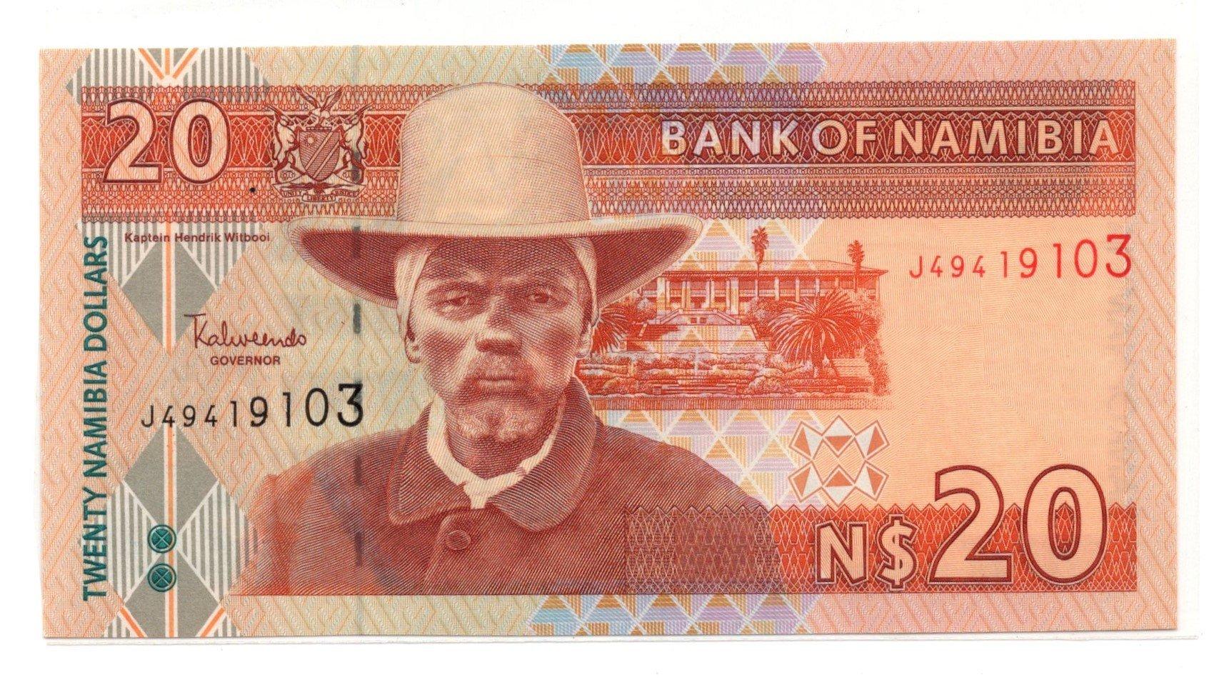 namibia 20 dollars banknote