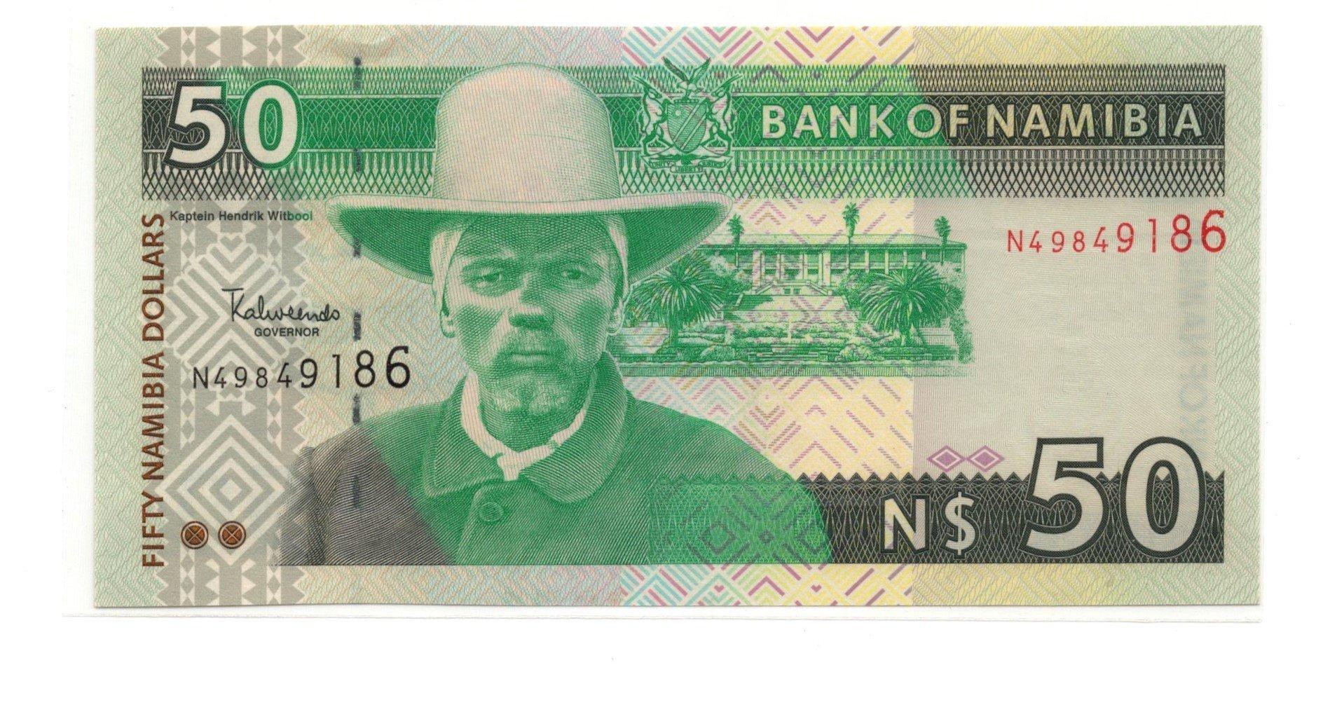 Namibia 50 dollars banknote