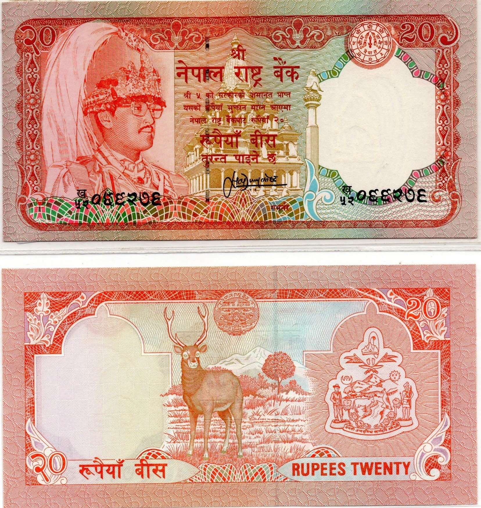 Nepal 20 rupees banknote for sale