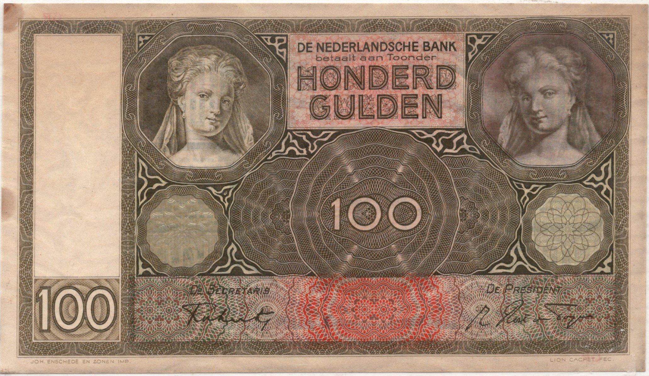 netherlands 100 gulden 1942